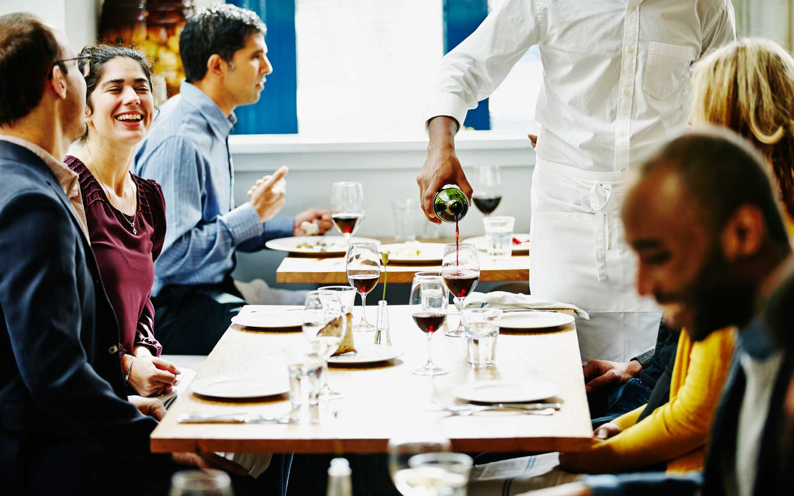 People dining in restaurant
