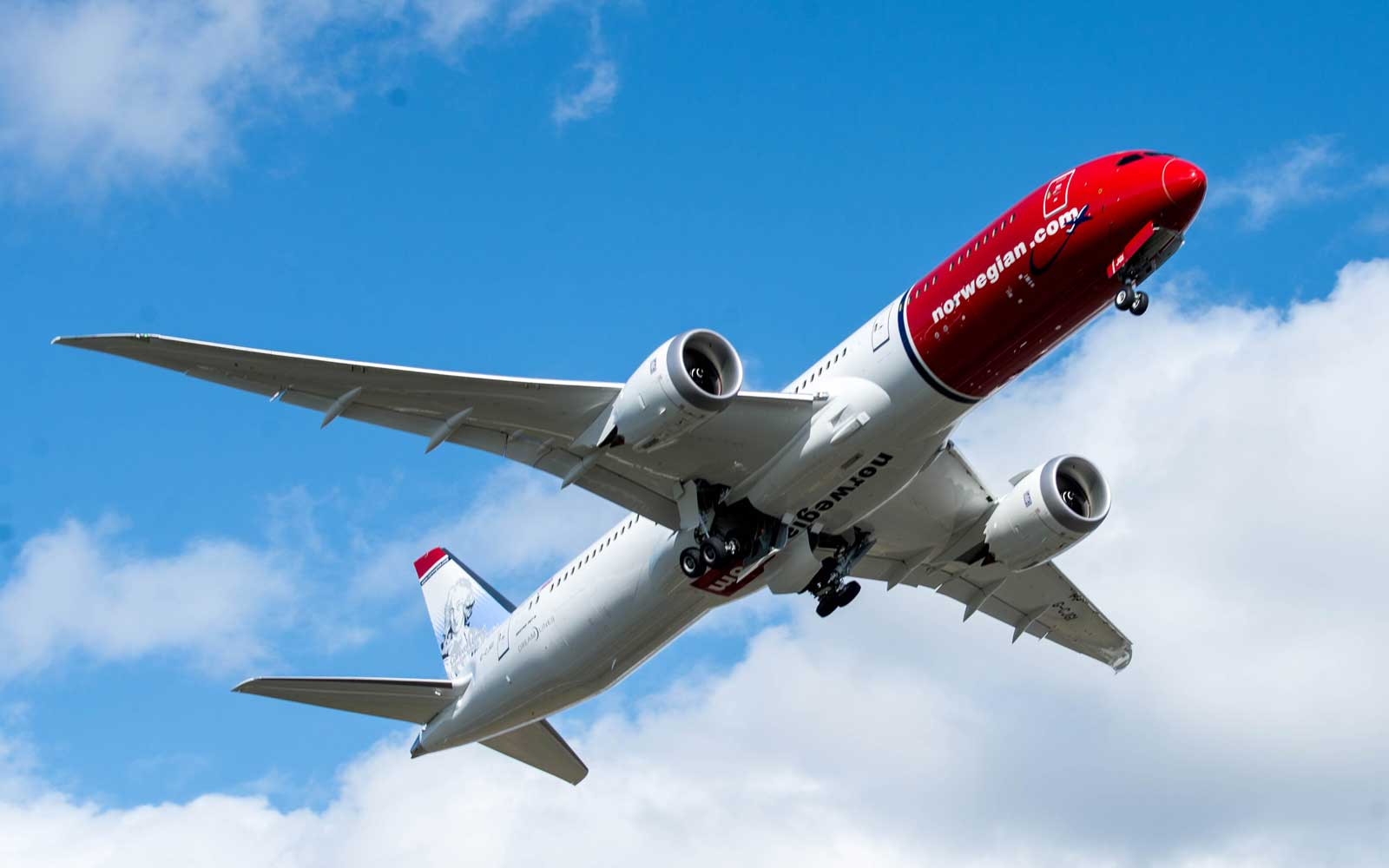 Norwegian airplane in flight