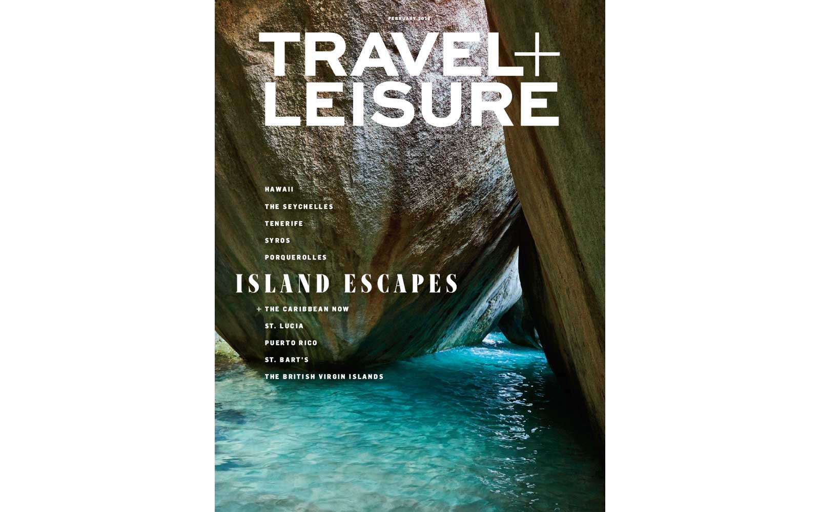 Travel + Leisure February 2019 cover