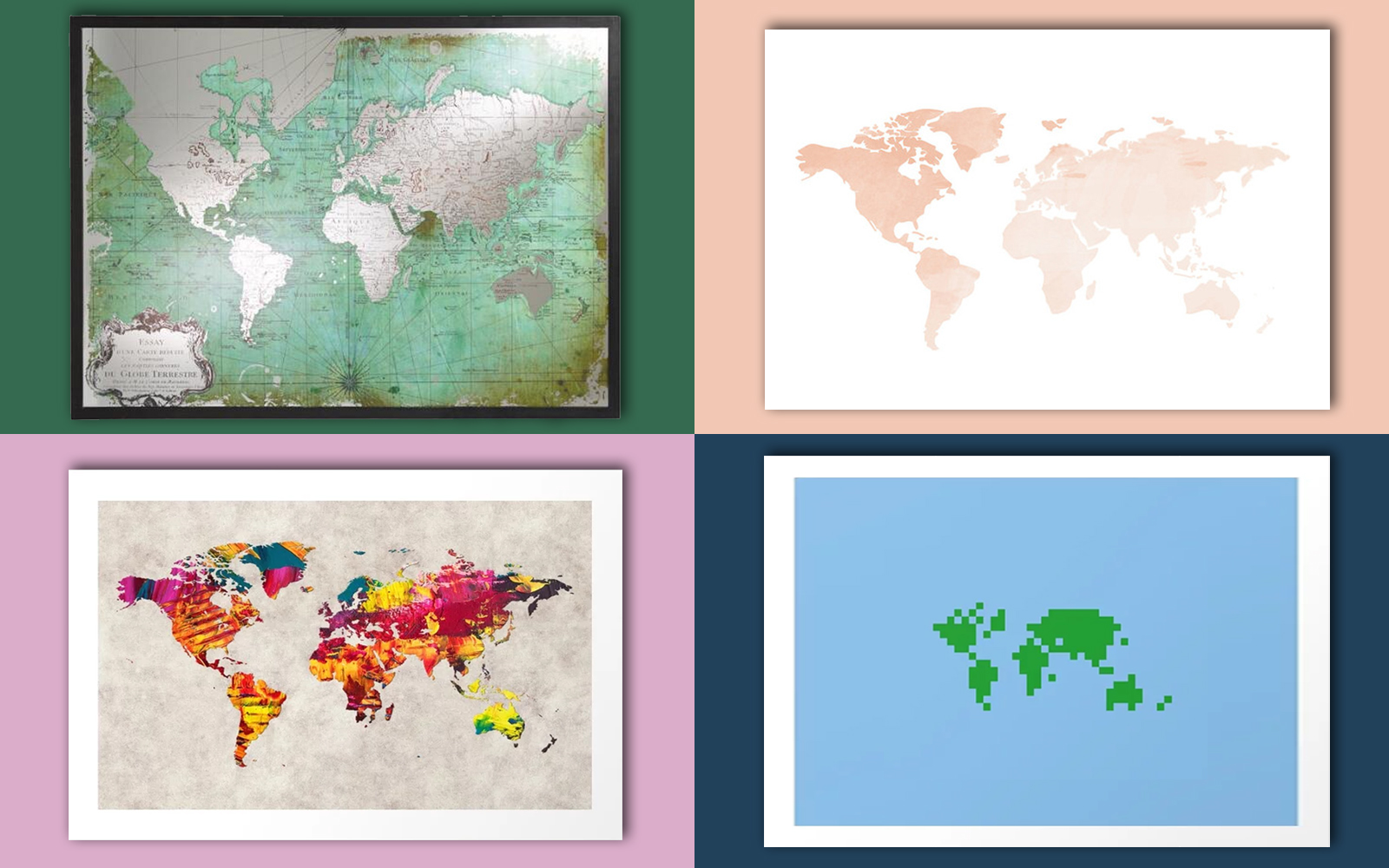 Cool World Map Wall Art for Showing Off Your Wanderlust