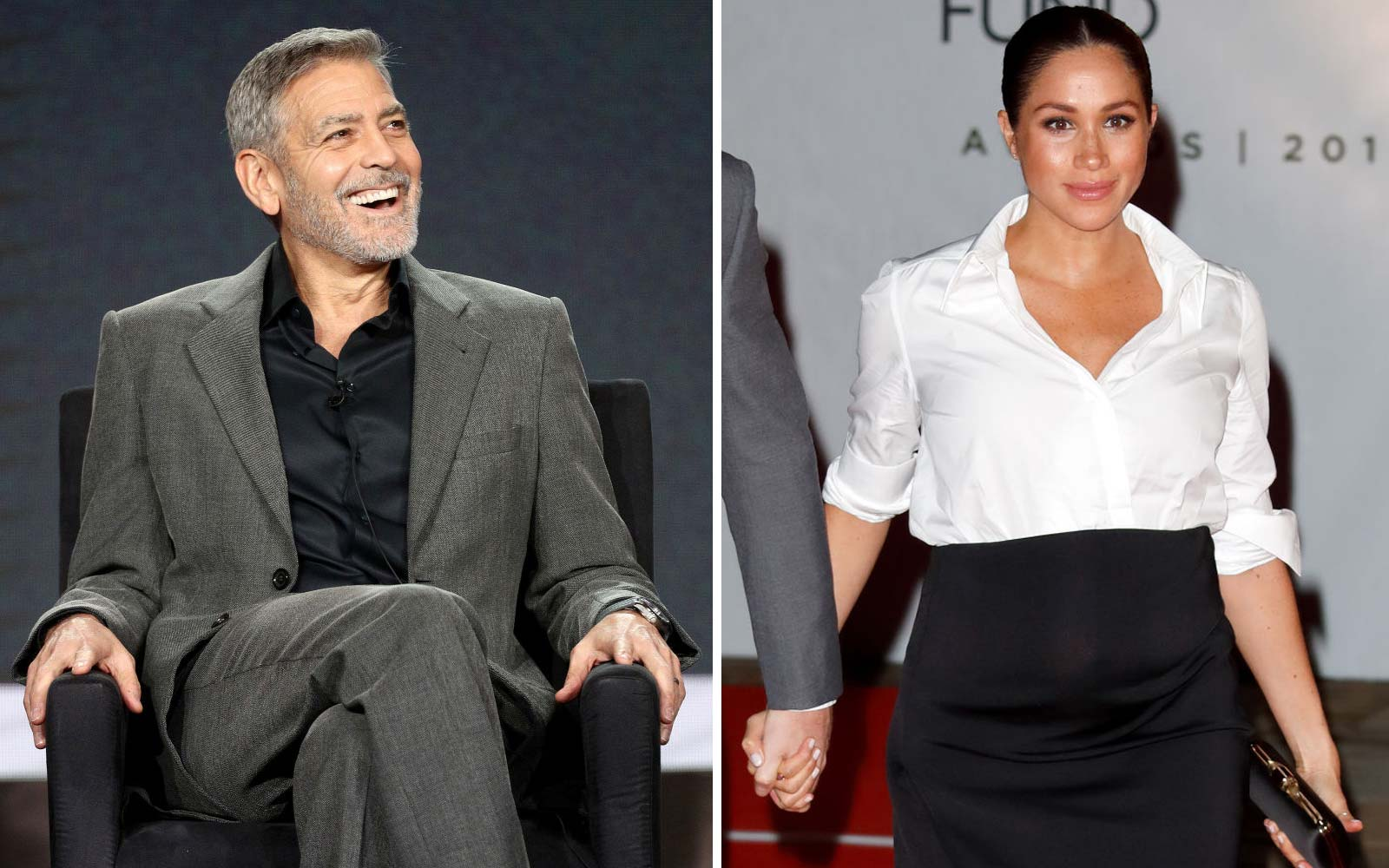 George Clooney Says Meghan Markle Is Being 'Pursued and Vilified' Like Princess Diana: 'It's History Repeating Itself'