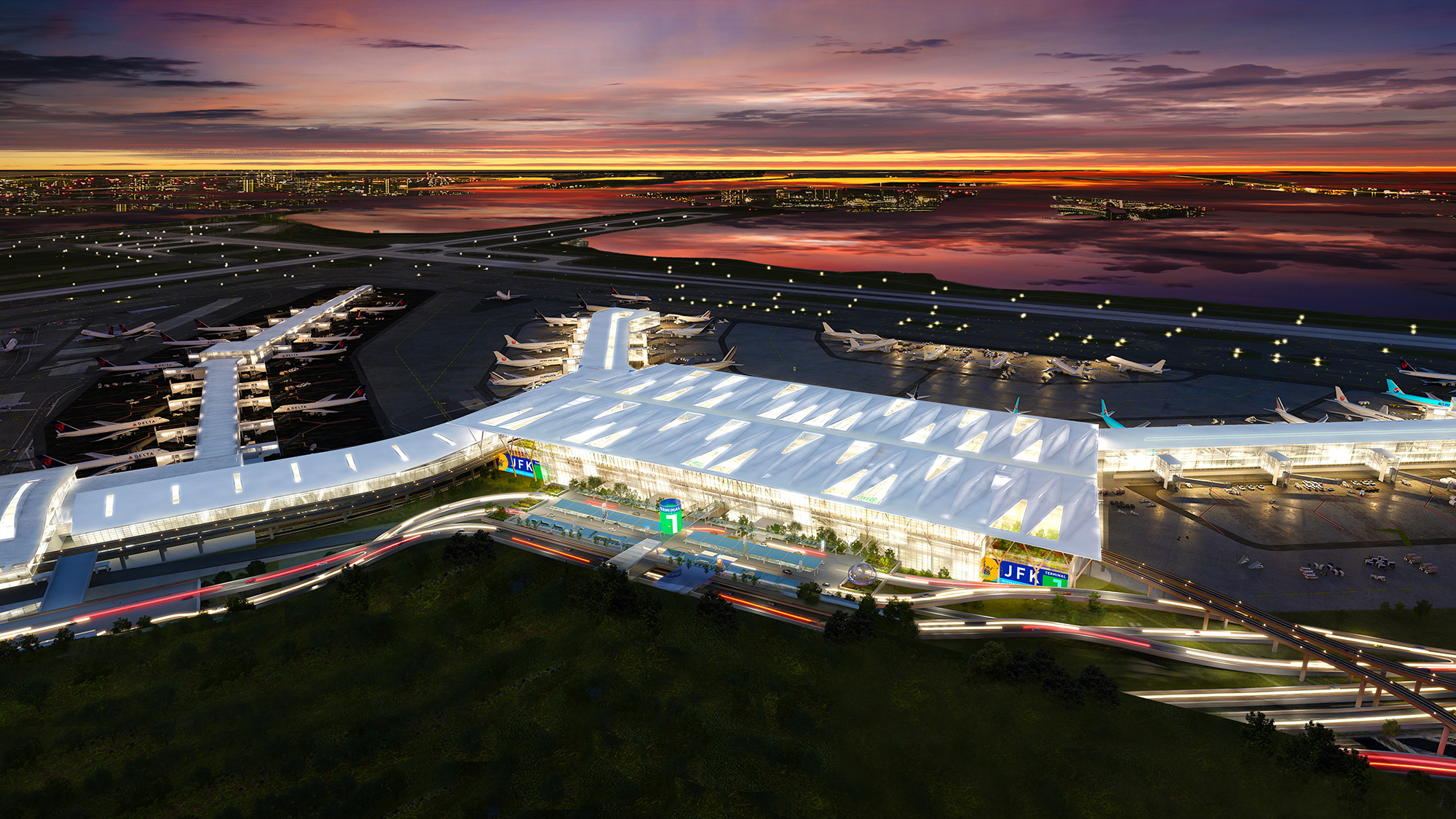 A rendering of the new Terminal 1 coming to JFK.