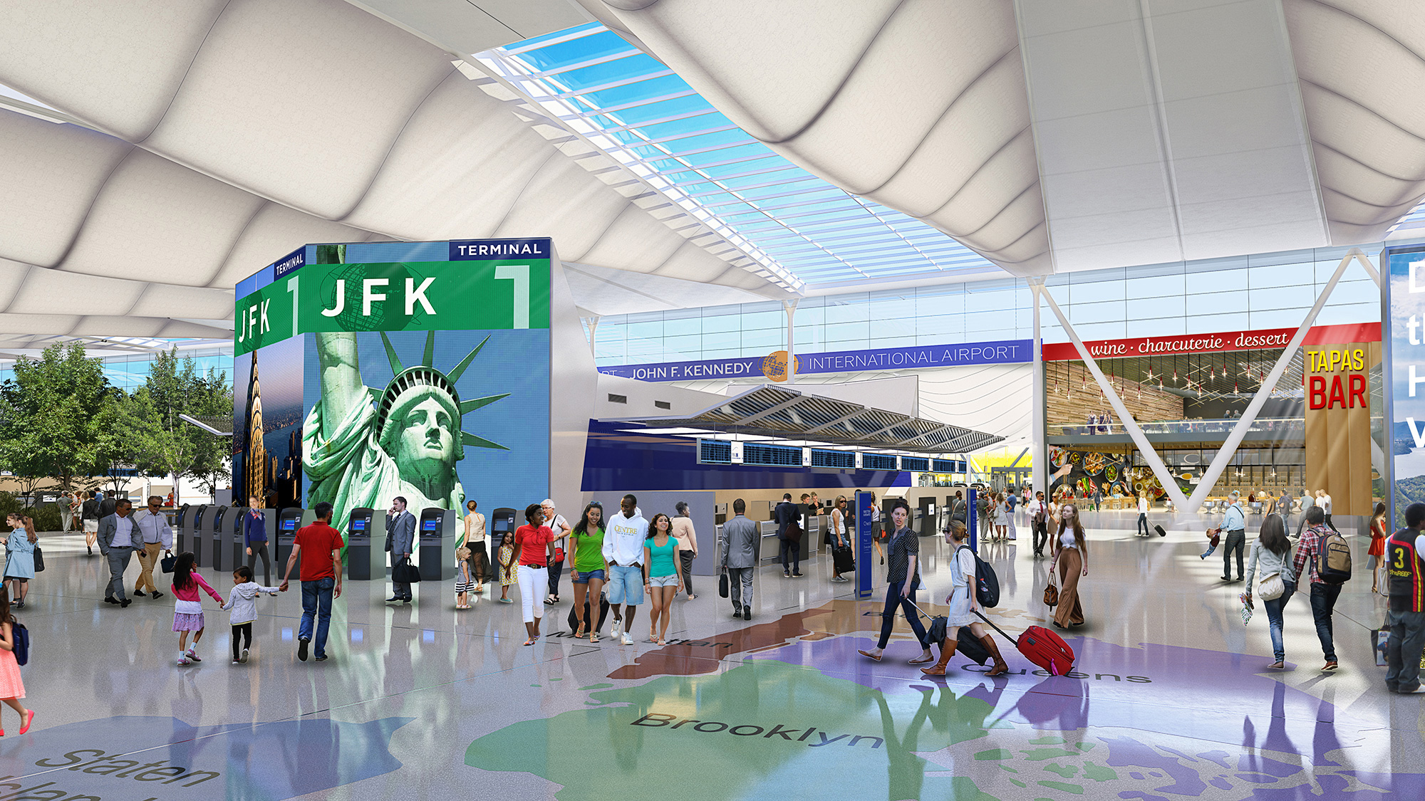 A rendering of the upcoming Terminal 1.