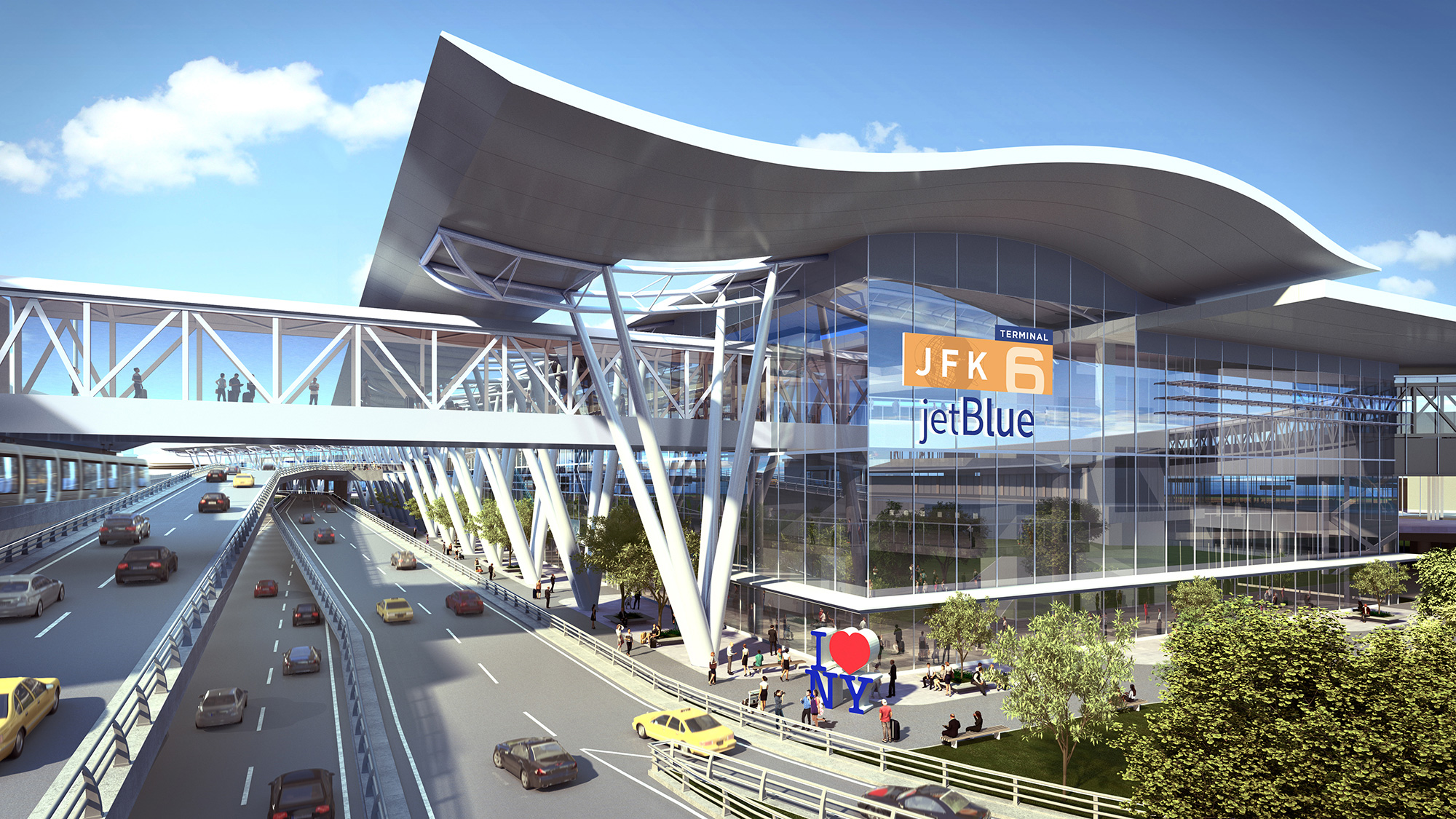 A rendering of the new Terminal 6.