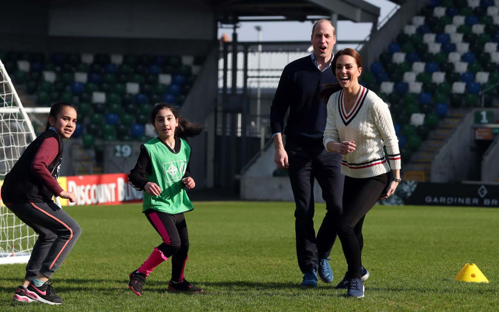 Kate Middleton Switches Into Sneakers to Hit the Field in Northern Ireland