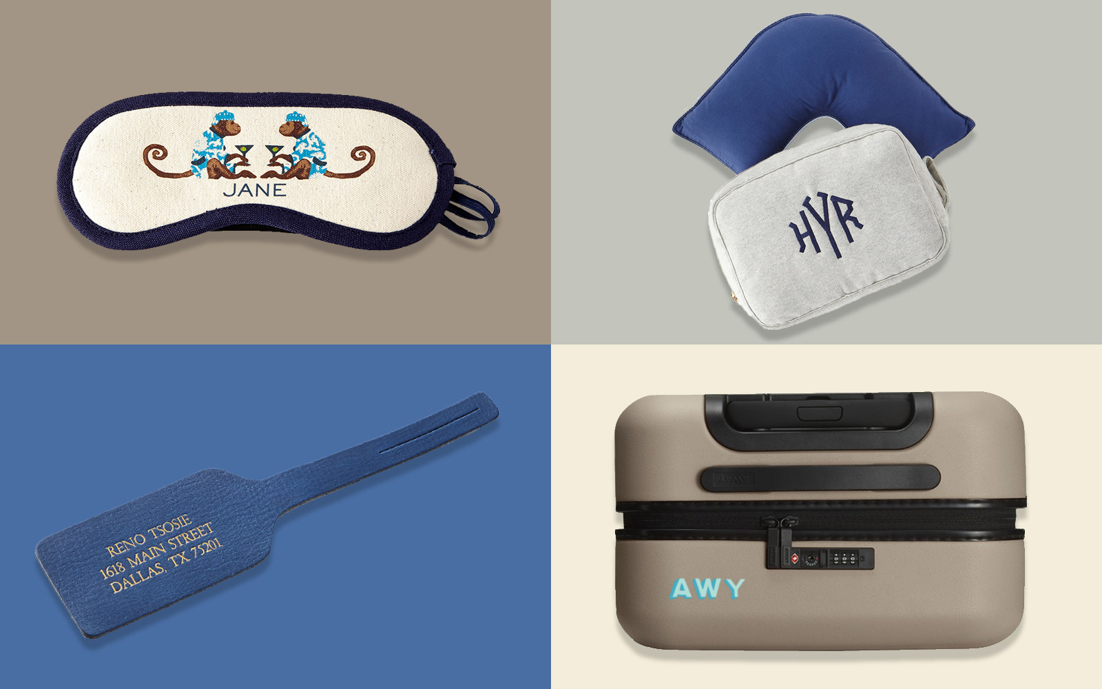 personalized travel accessories