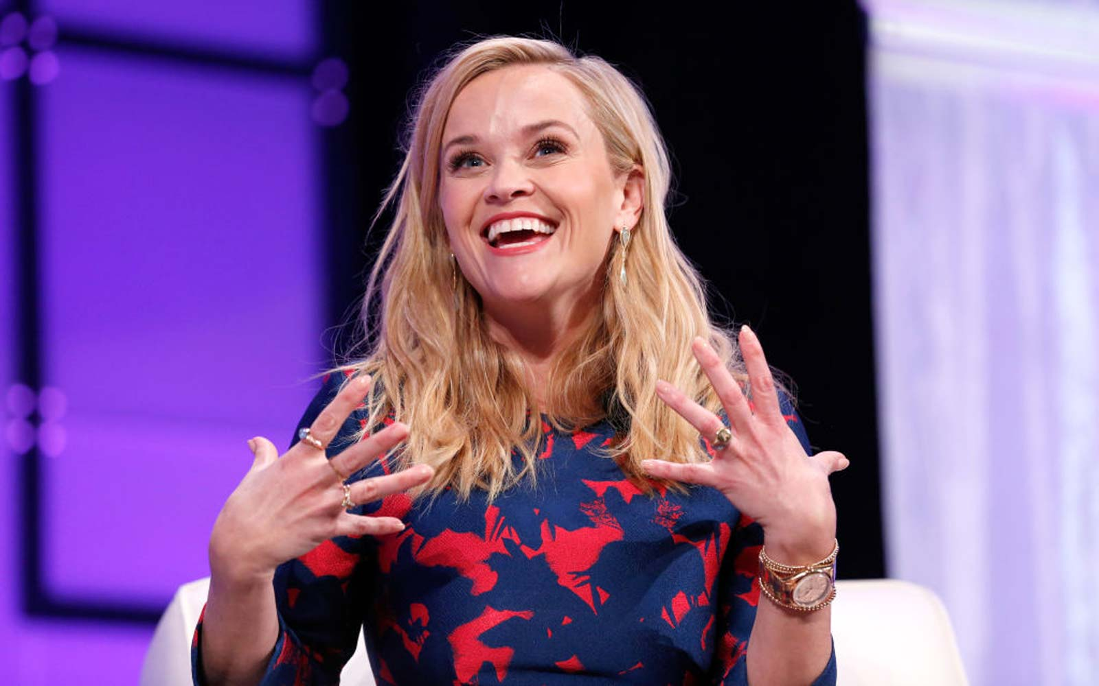 Actor/producer/activist Reese Witherspoon speaks onstage at the Watermark Conference for Women