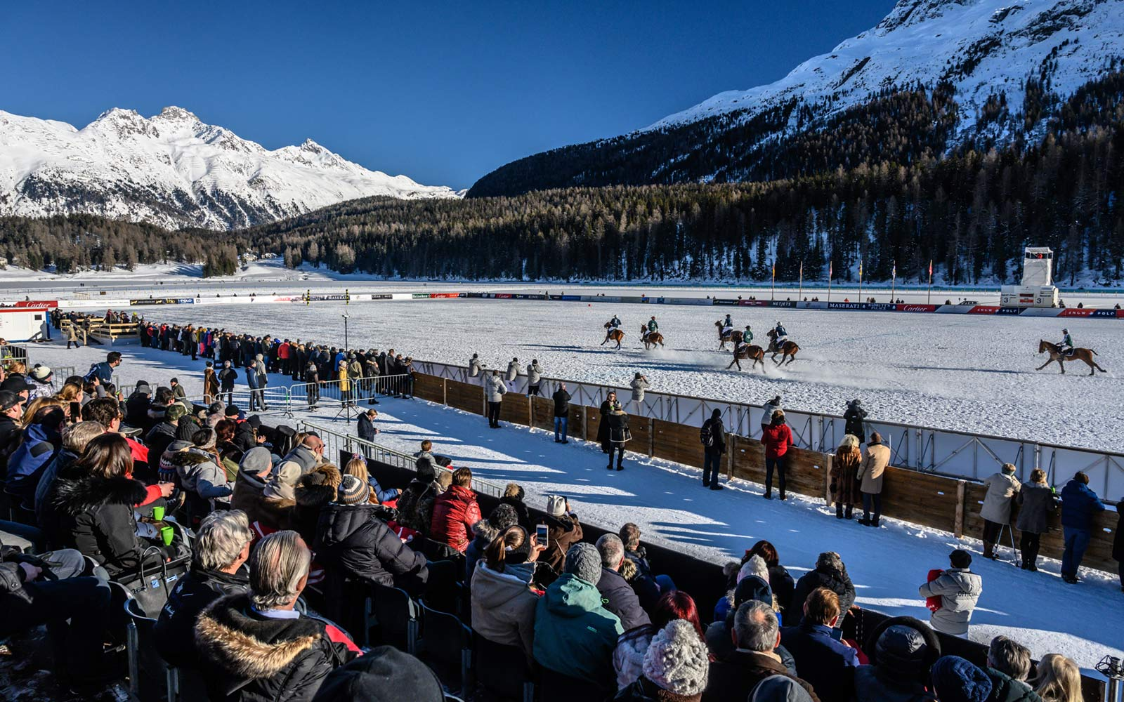 Spectators at Snow Polo, St. Moritz, Switzerland