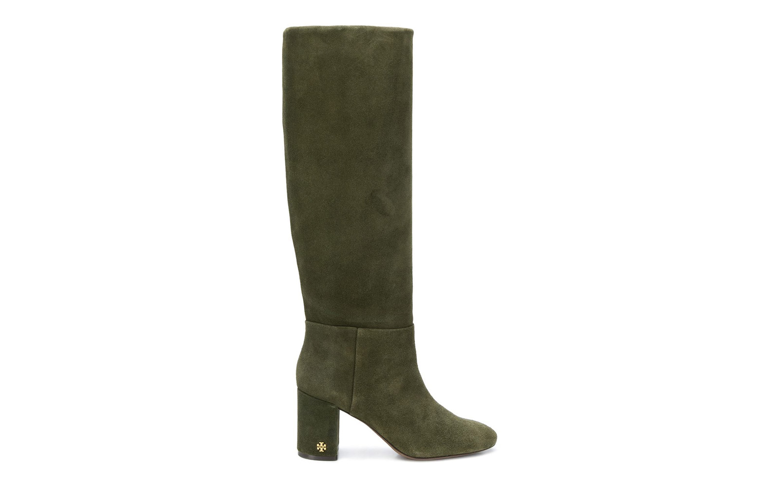 f54652fcdc15 Tory Burch Brooke Slouchy Boot. suede green boots meghan markle. Courtesy  of Farfetch