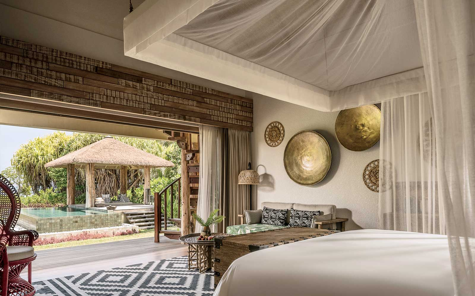 View from a room at the Four Seasons Seychelles Desroches Island
