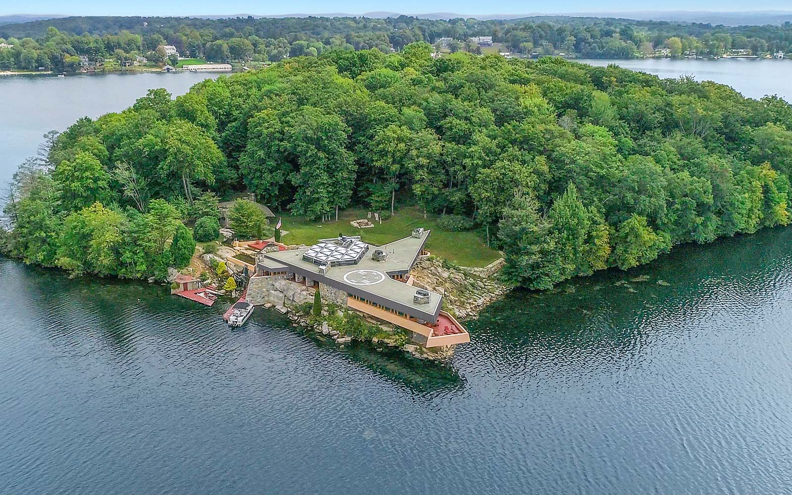 This Private Island Has 2 Homes Designed by Frank Lloyd Wright — and It's for Sale