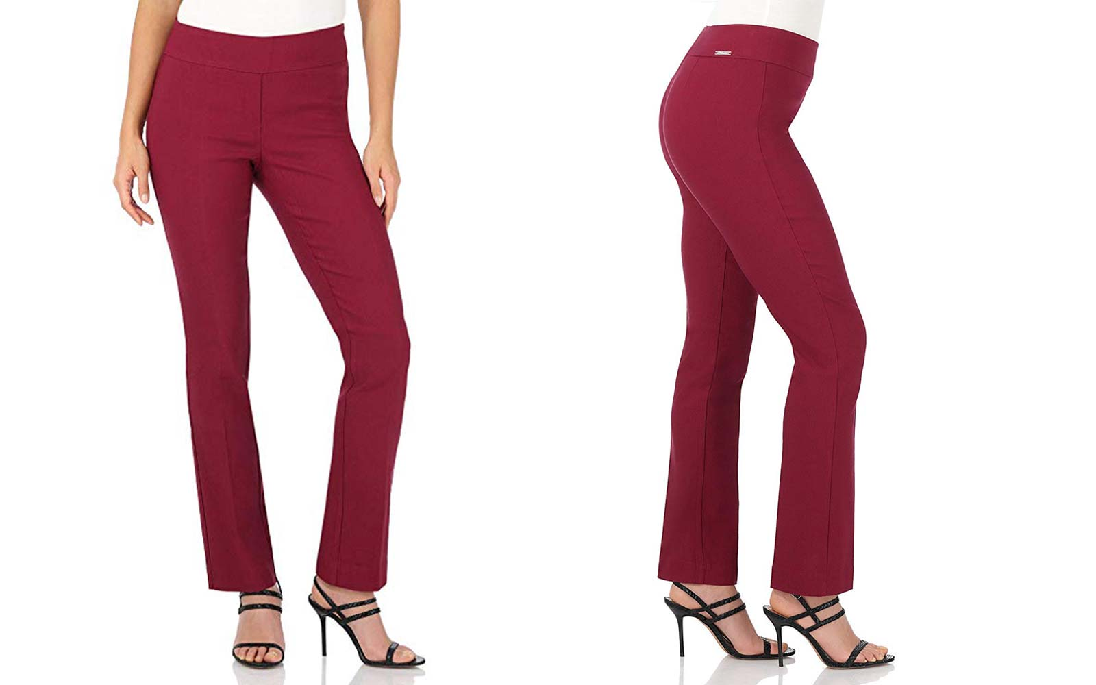 Rekucci Women's Ease in to Comfort Straight Leg Pant with Tummy Control
