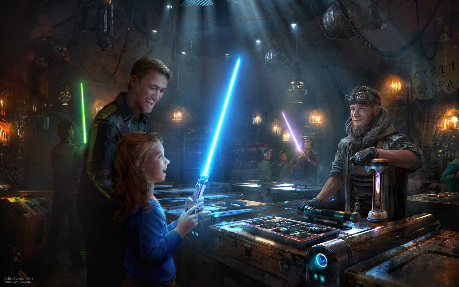 Build Your Own Droid and a Custom Lightsaber When Star Wars Land Opens This Summer