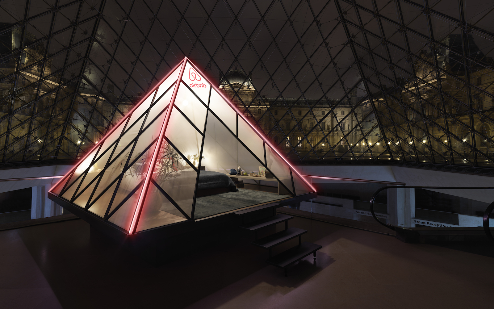 Louvre Pyramid hotel Airbnb