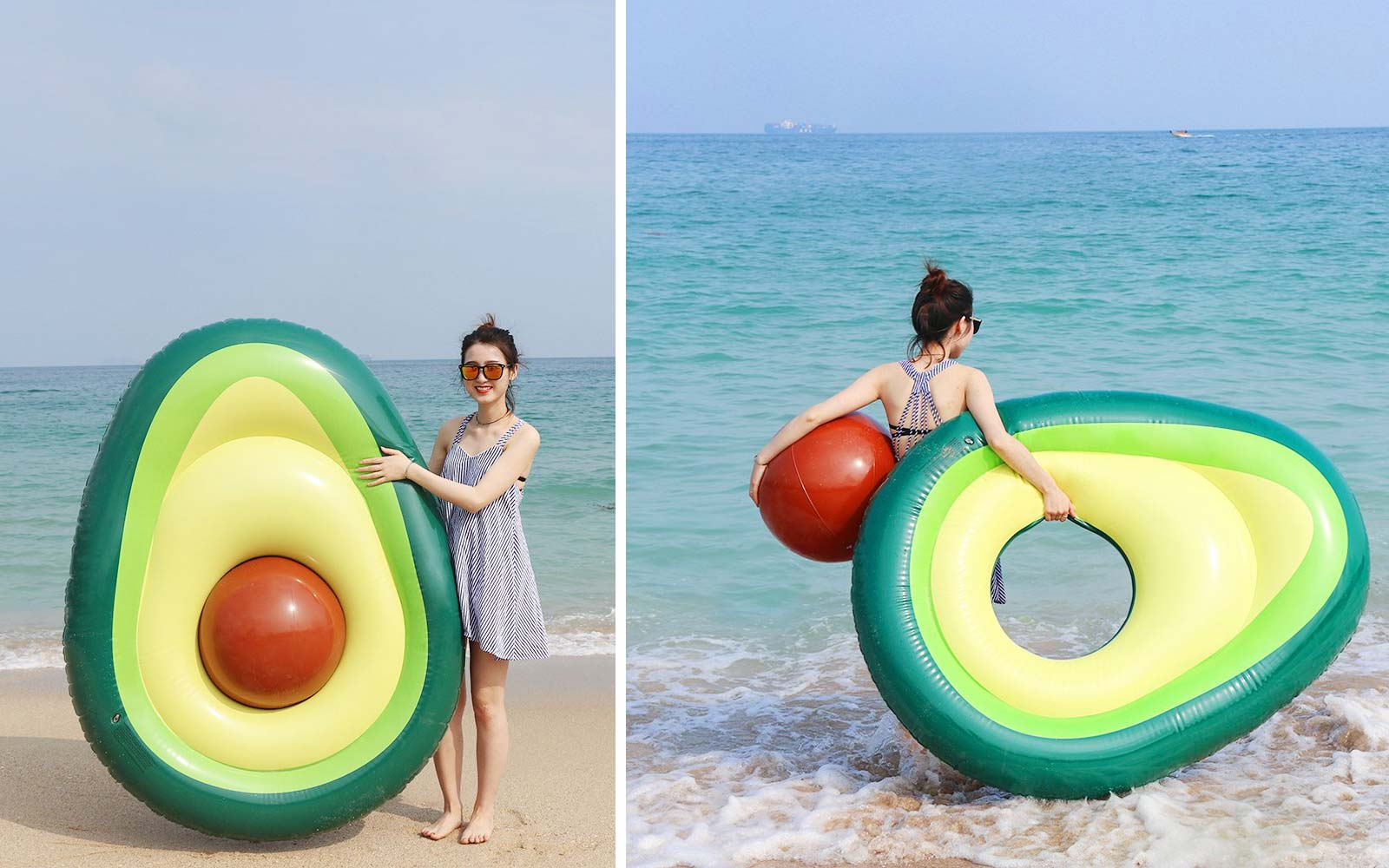 Amazon is selling an avocado-shaped pool float with a removable pit