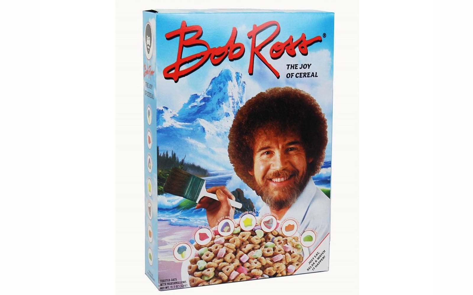 This Bob Ross Cereal Comes With Marshmallows in the Shapes of Happy Trees, Cabins, and Bushes