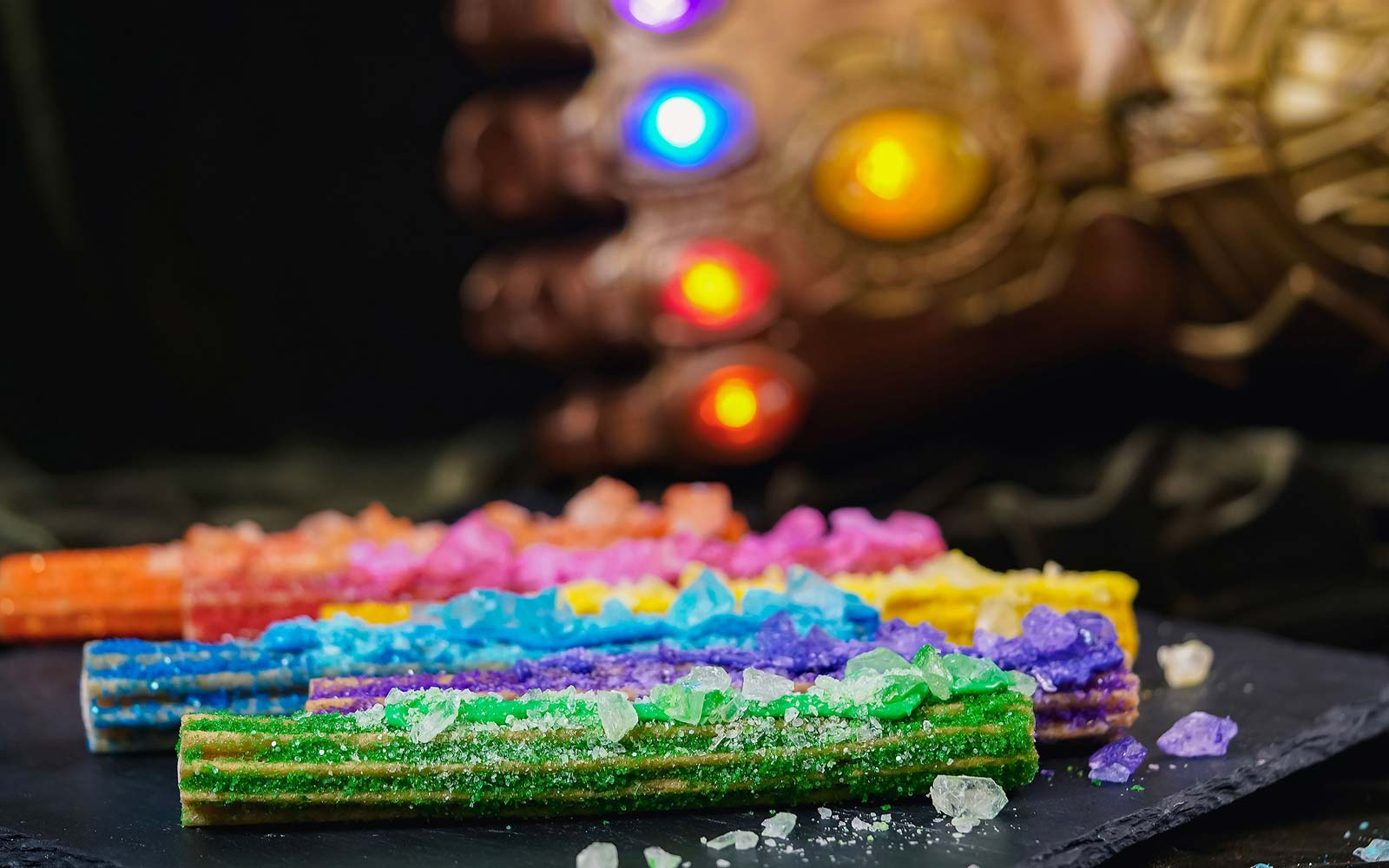 Disneyland's Rainbow Rock Candy Churros Look Out of This World