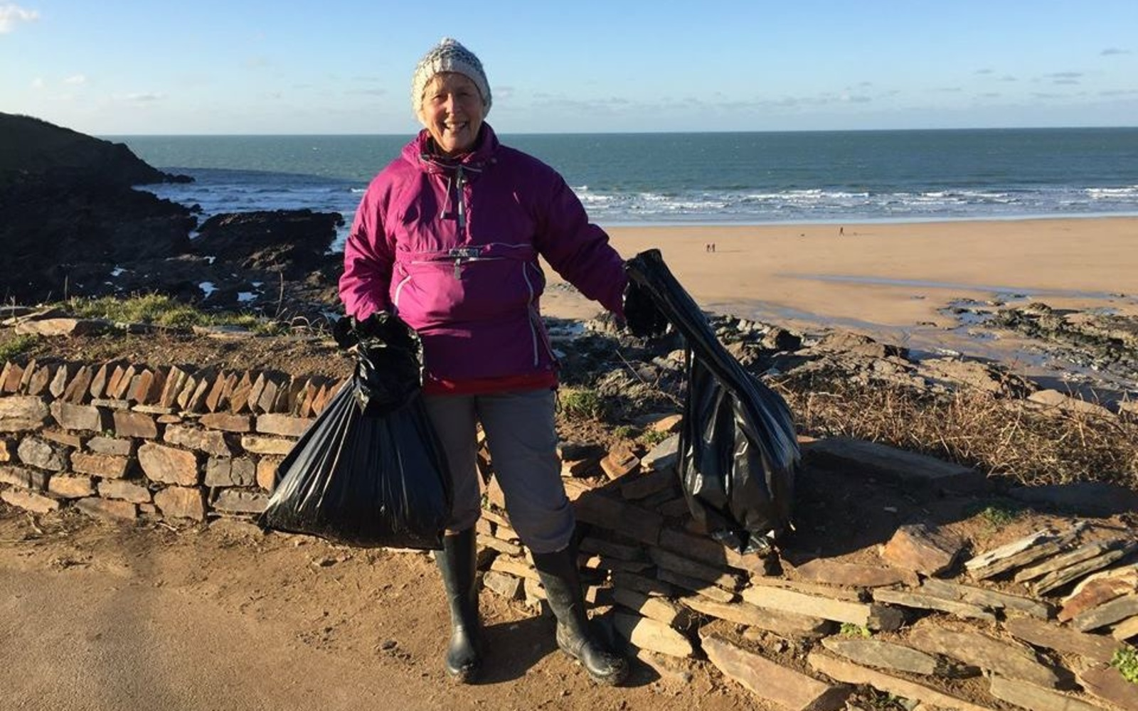 This 70-year-old Grandma Spent a Whole Year Cleaning Litter From 52 Beaches