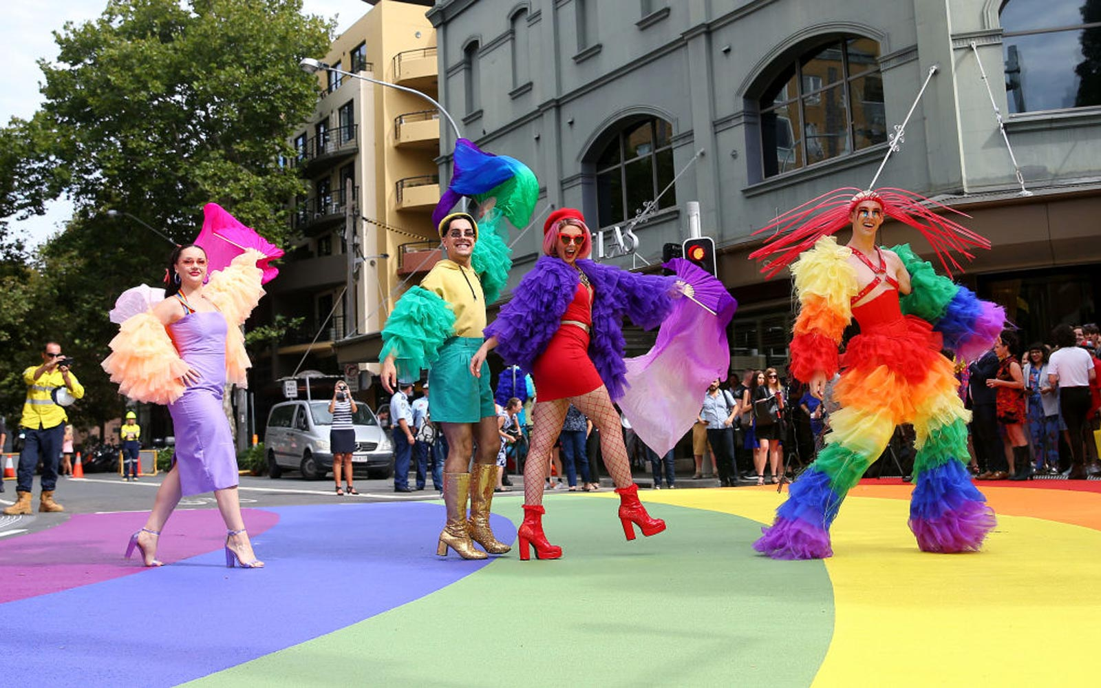 Sydney Unveils Permanent Rainbow Crosswalk As Symbol of LGBTQ Pride