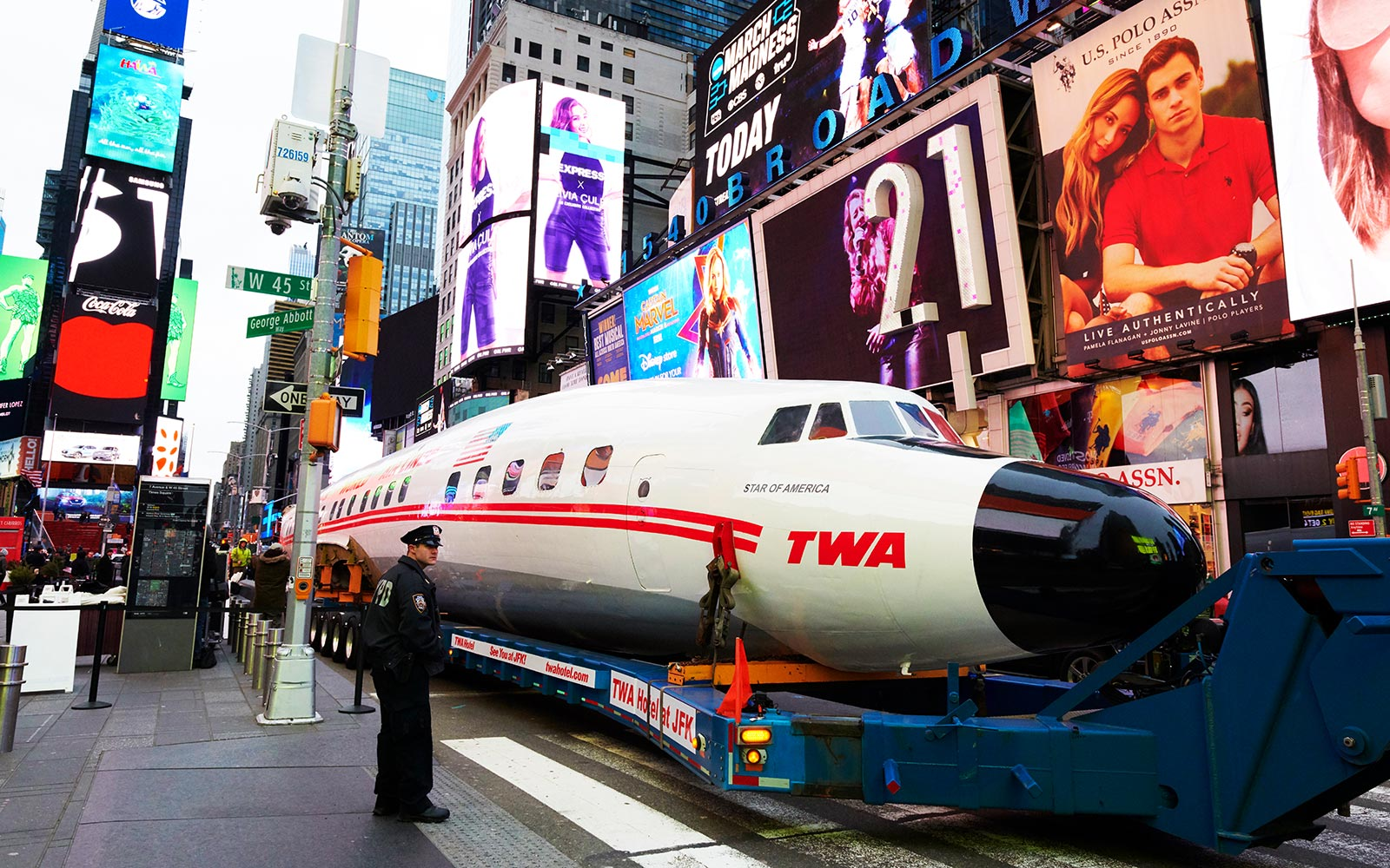 TWA Connie airplane