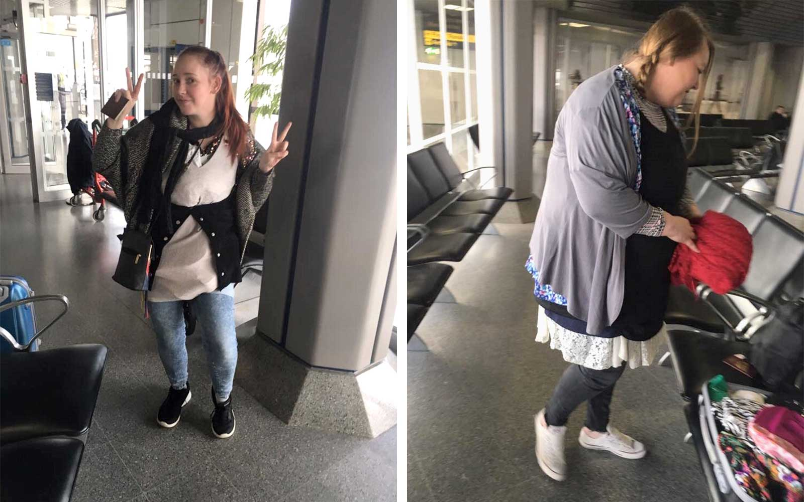 UK Woman wears clothes to avoid baggage fee