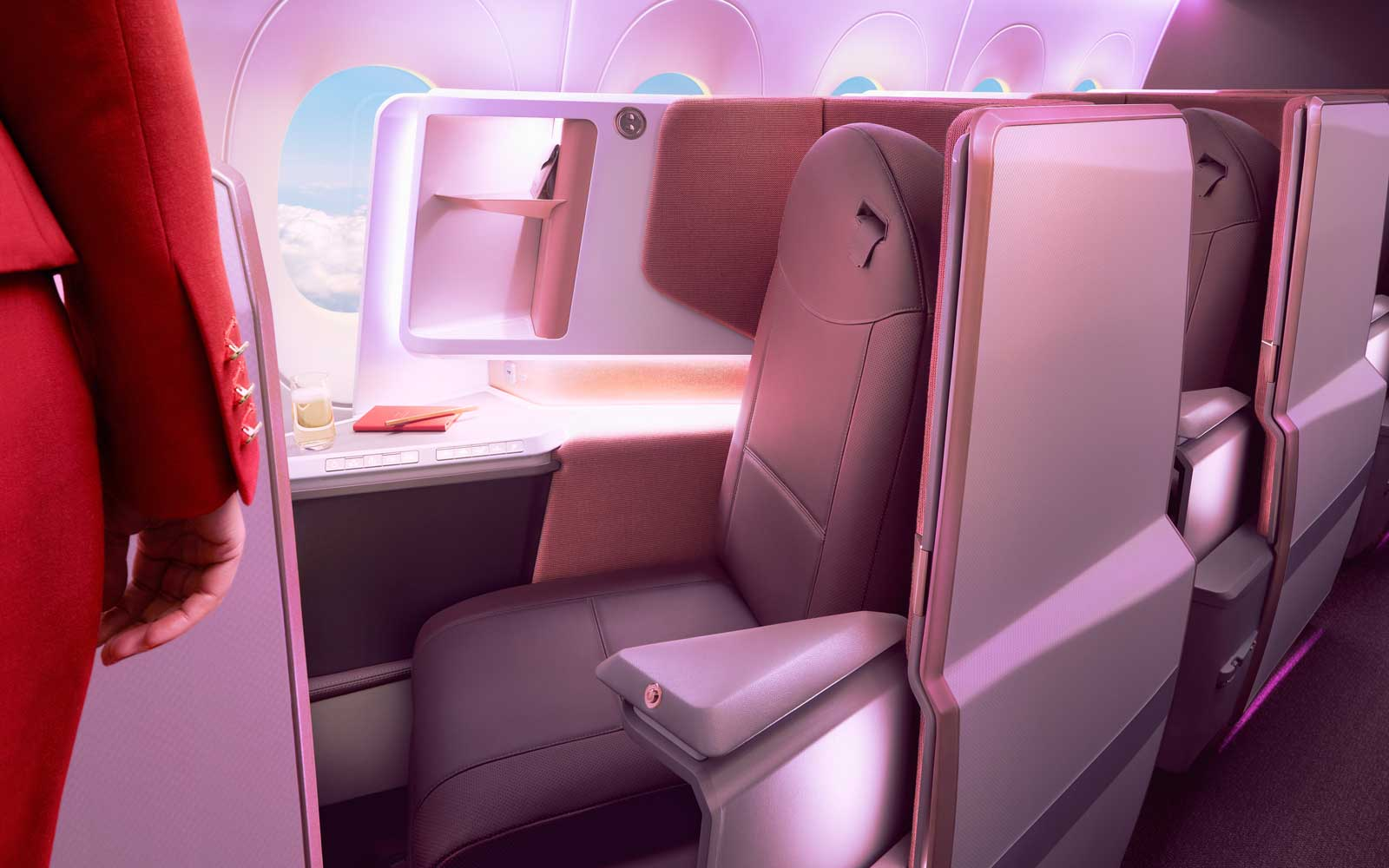 See Photos of Virgin Atlantic's New Airbus A350 — With New Seats and an Onboard Lounge