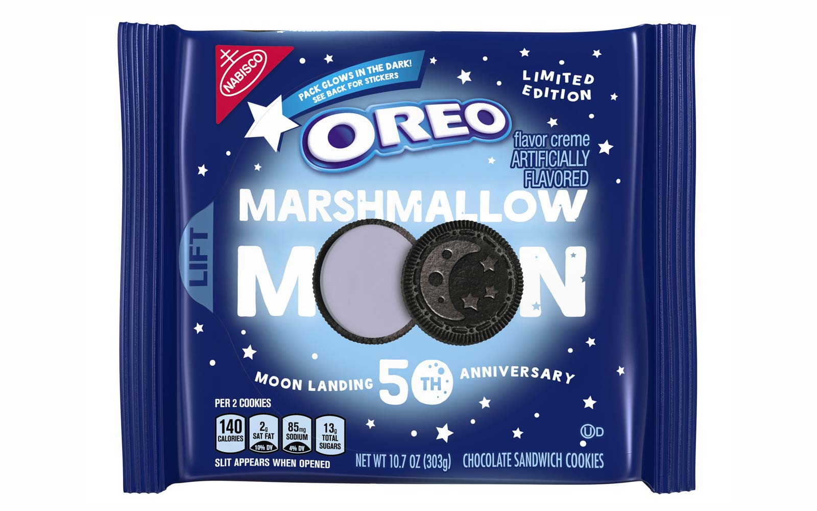 Marshmallow Moon Oreos Are Coming and the Package Glows in the Dark