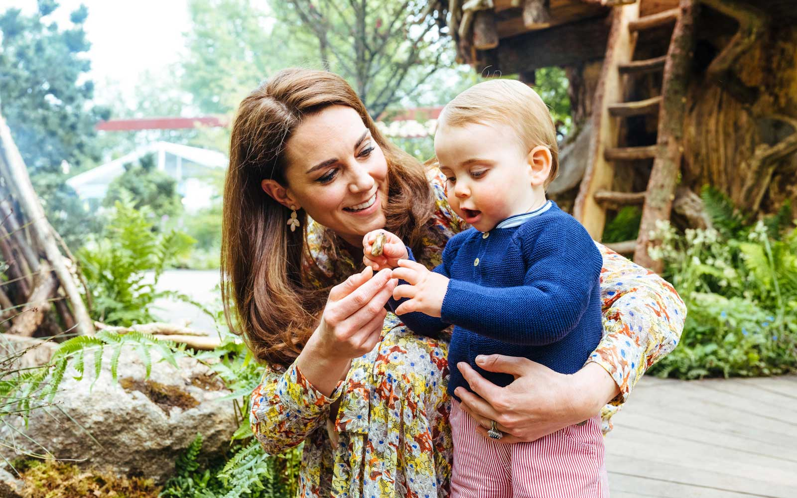 Catherine Duchess of Cambridge with Prince Louis