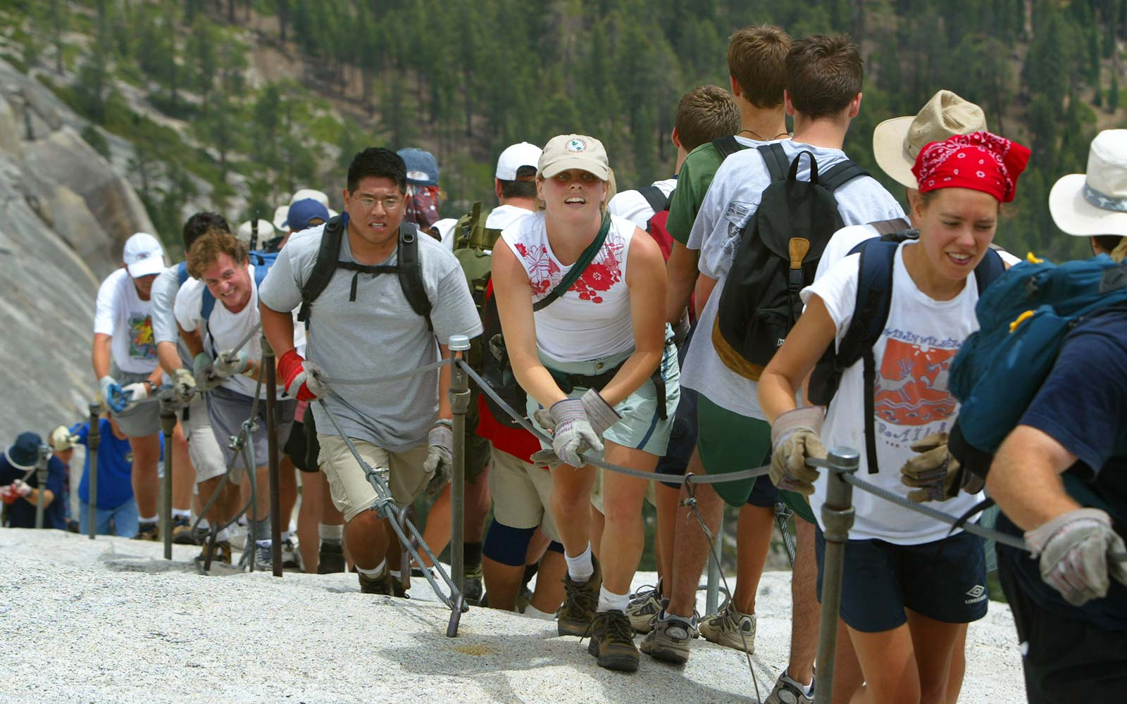 Only the bravest hikers can manage Yosemite's most difficult hike