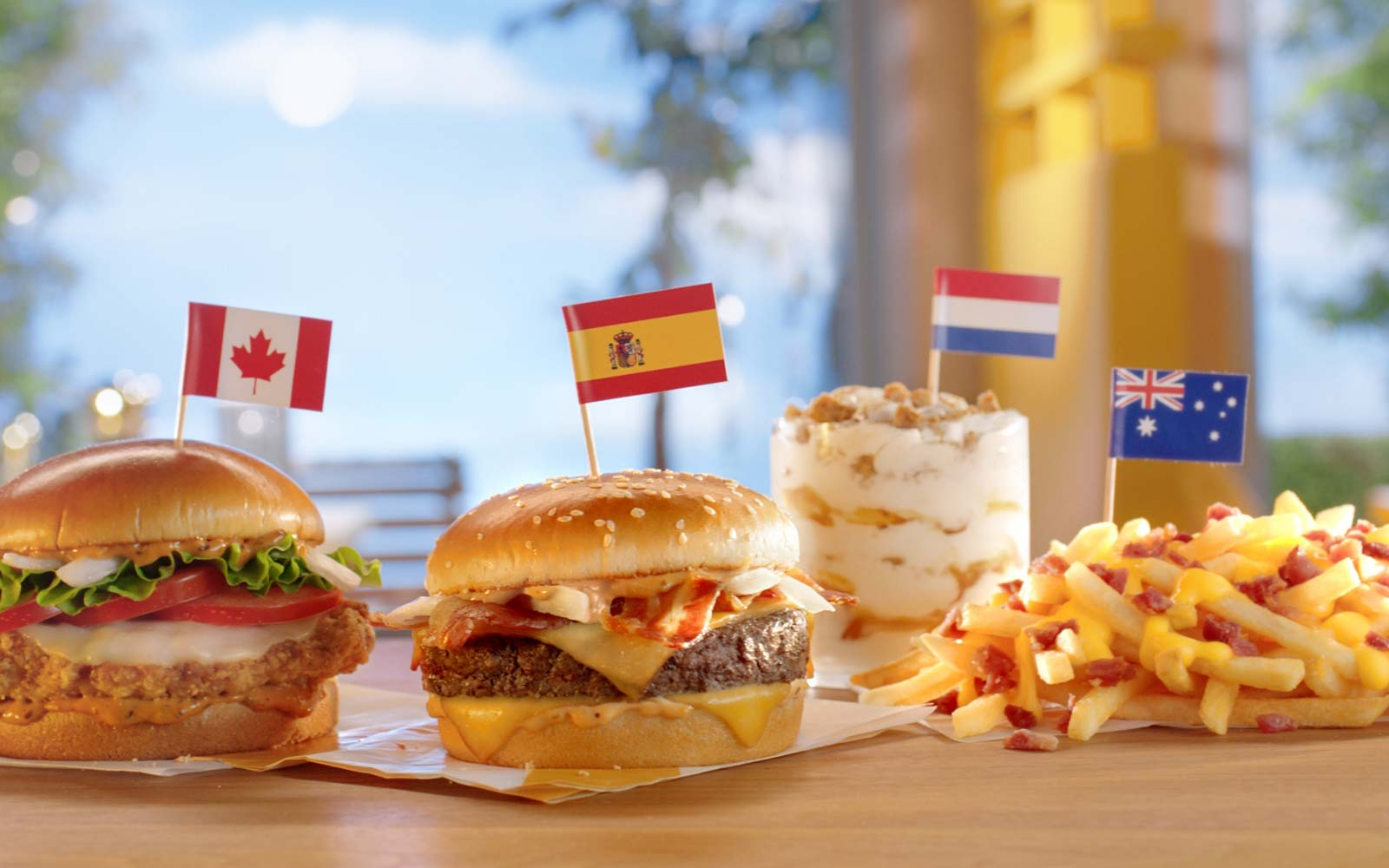 Worldwide Favorites menu at McDonald's
