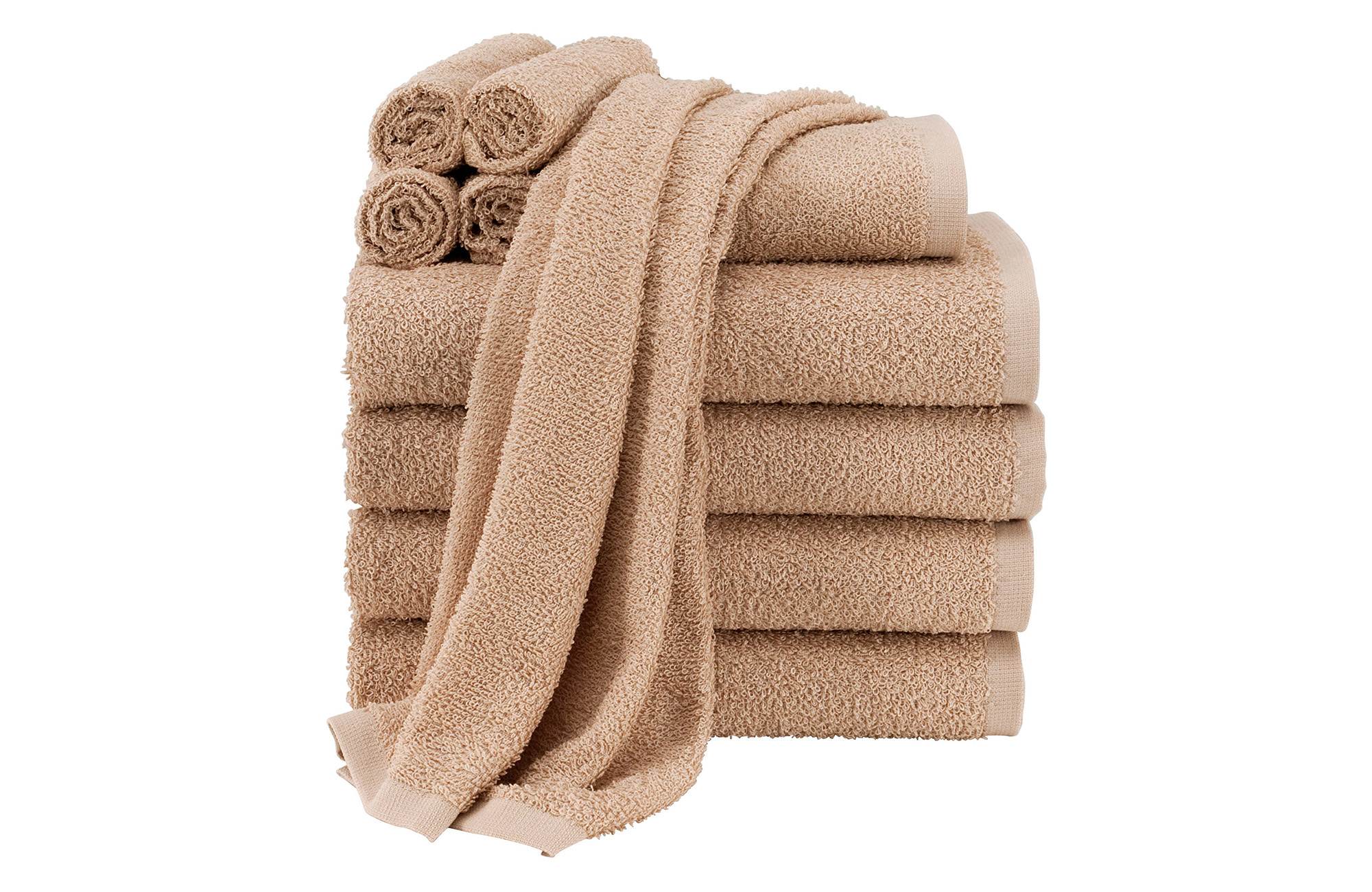 Best Budget Bath Towels: Walmart Mainstays Value Terry Cotton Bath Towel Set