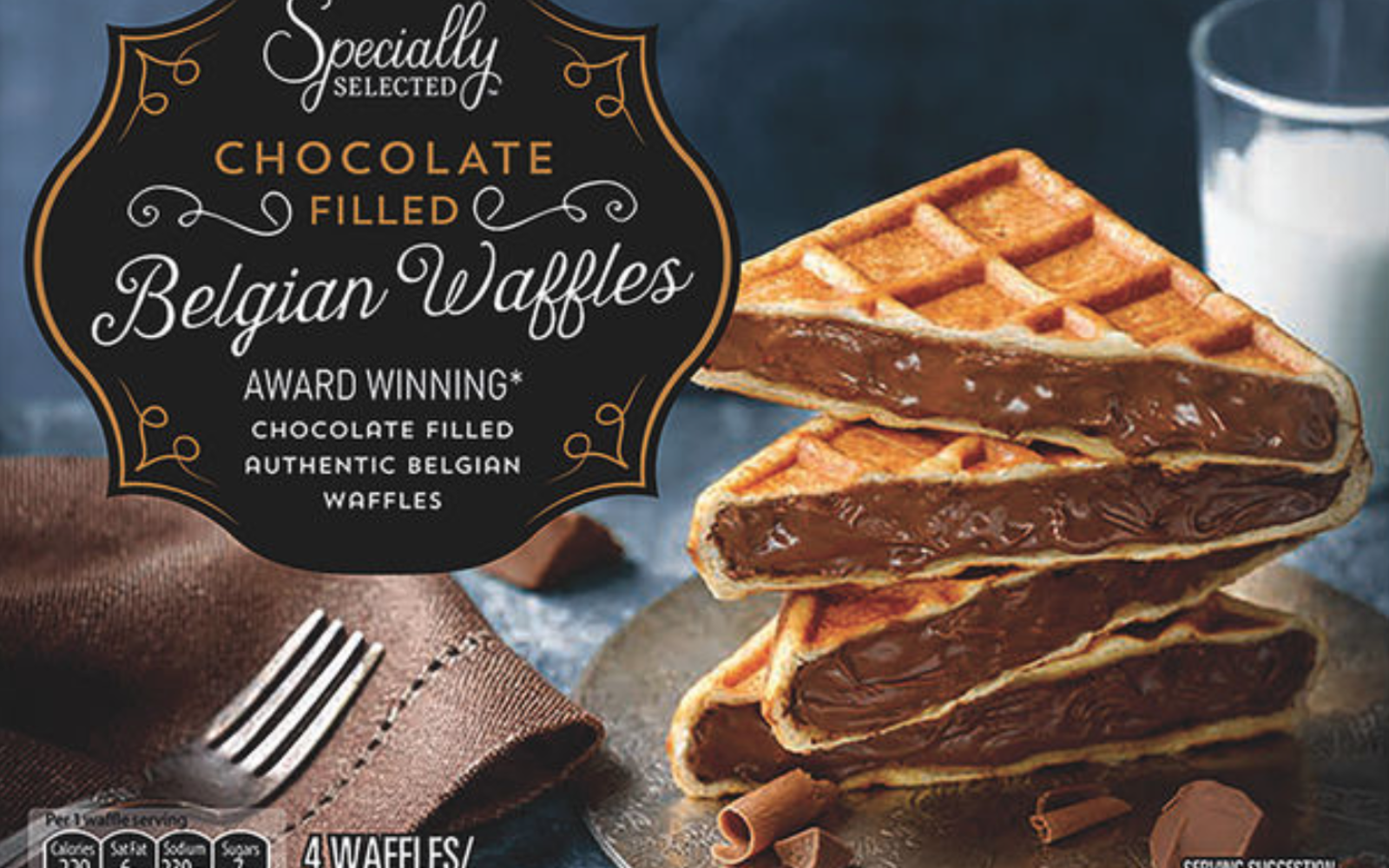 Aldi's Chocolate-filled Belgian Waffles Are Over-the-top in the Best Way Possible