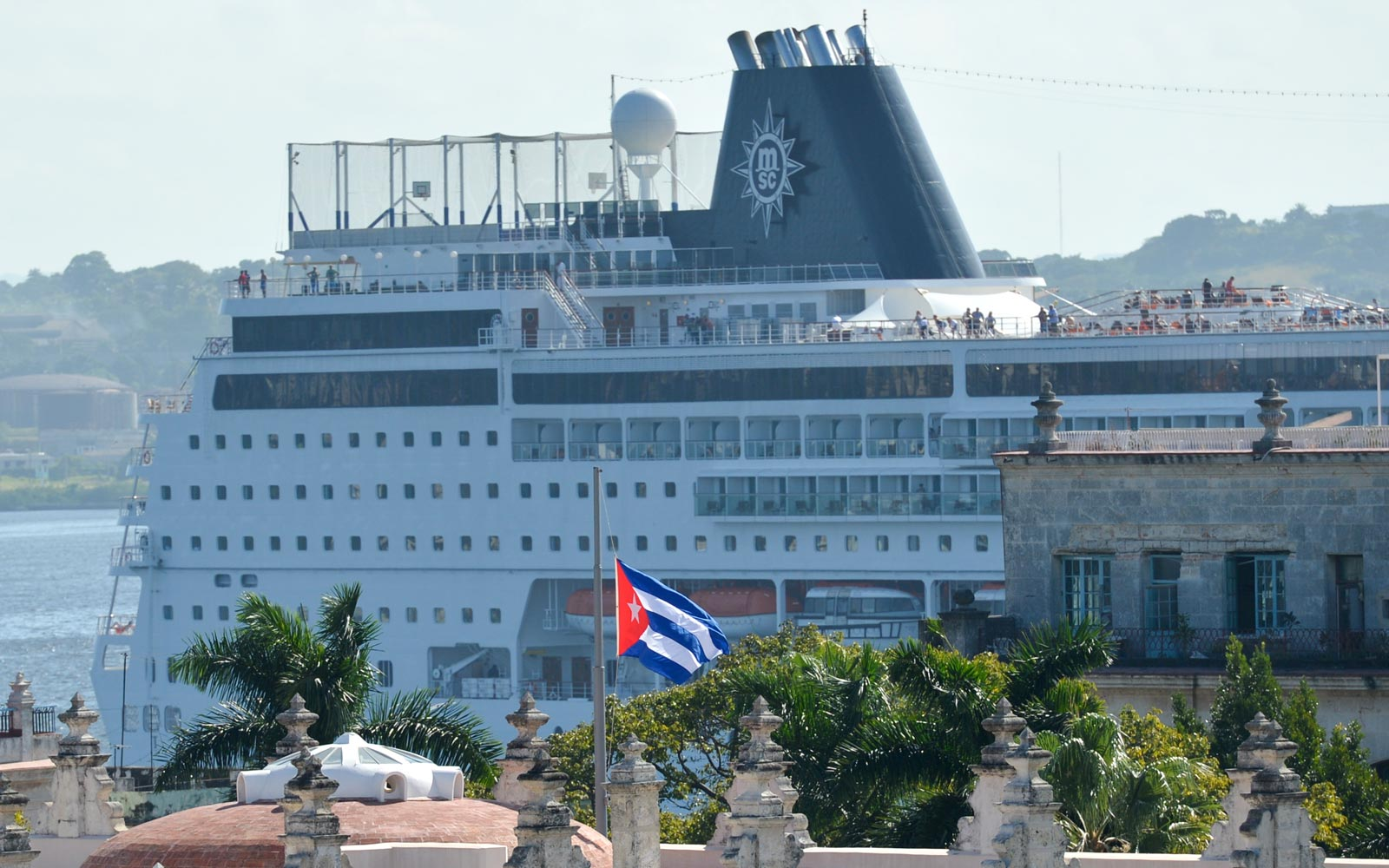 Cruise ship at port in Havana, Cuba