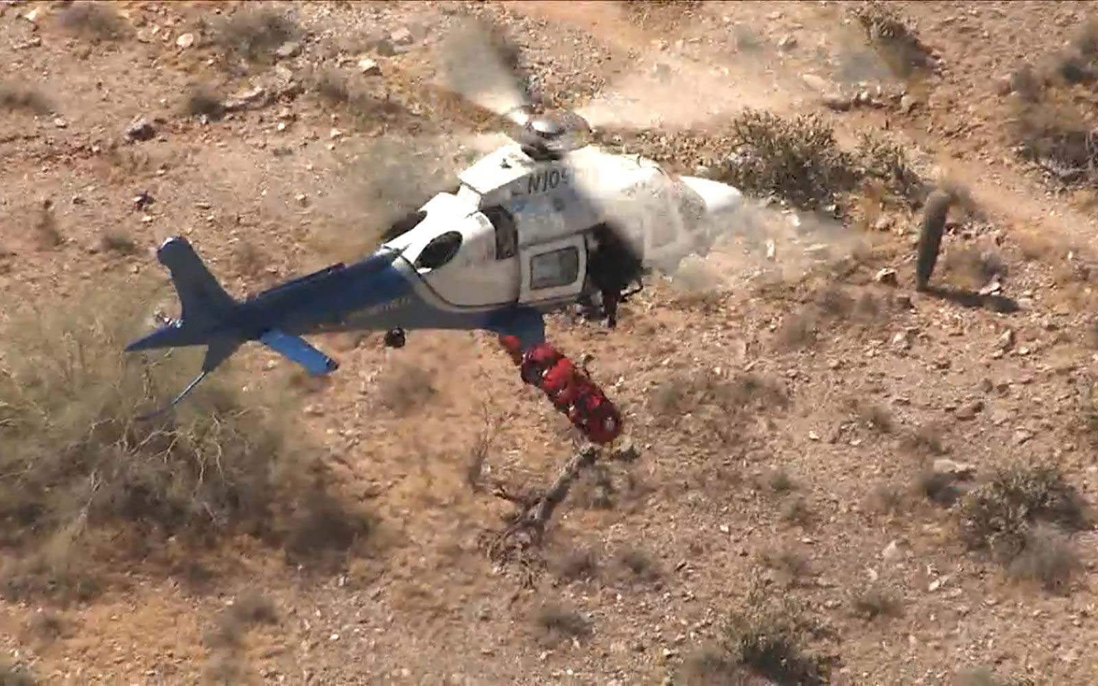 Dramatic Video Shows Moment Helicopter Rescue Mission Turned Into Scary Out-of-control Ride for Hiker