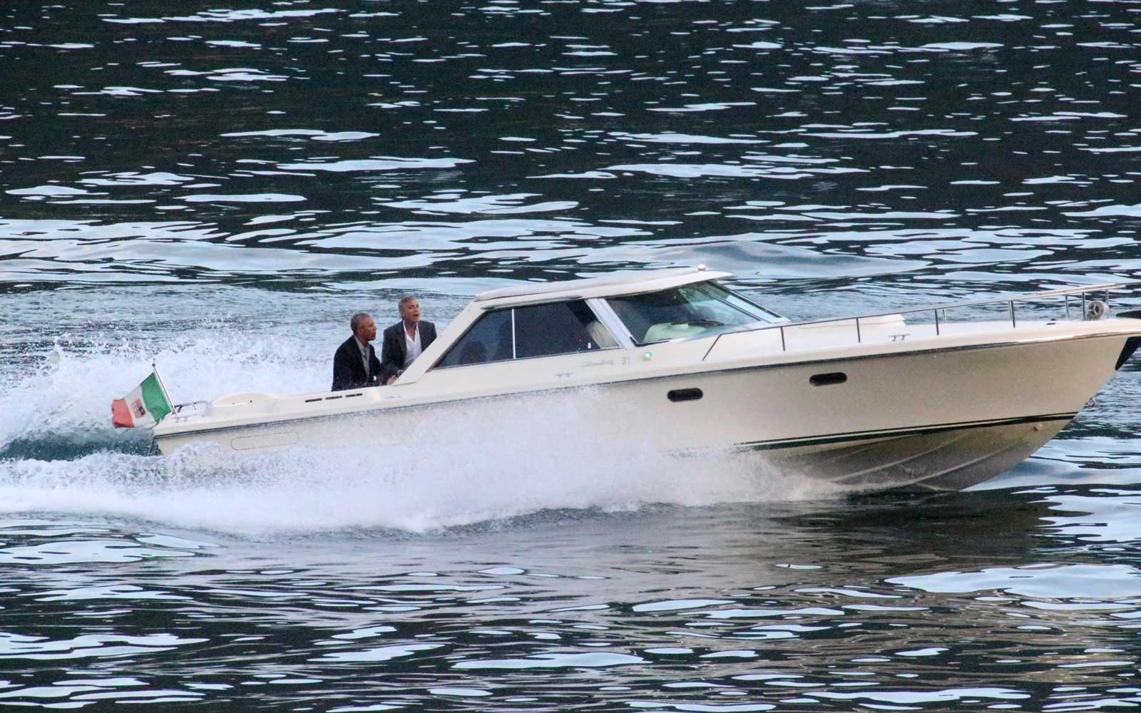 Obama Family Vacation with George Clooney in Lake Como and Avignon, France