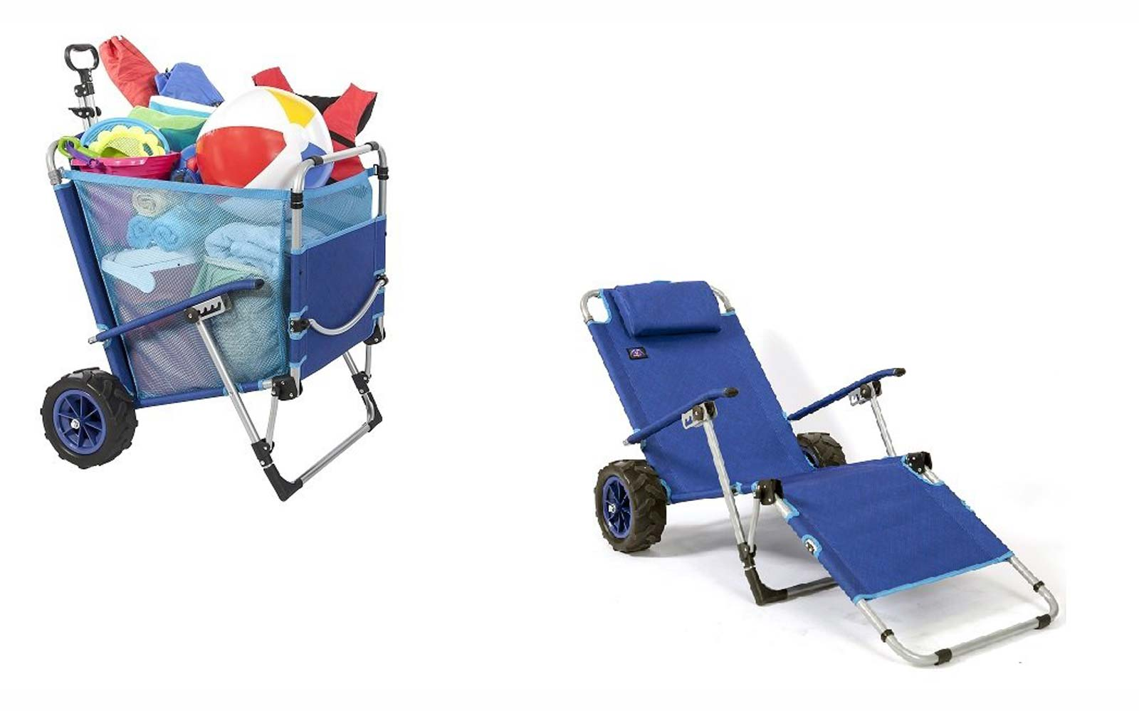 This Beach Chair Converts Into a Wagon With Sand-friendly Wheels