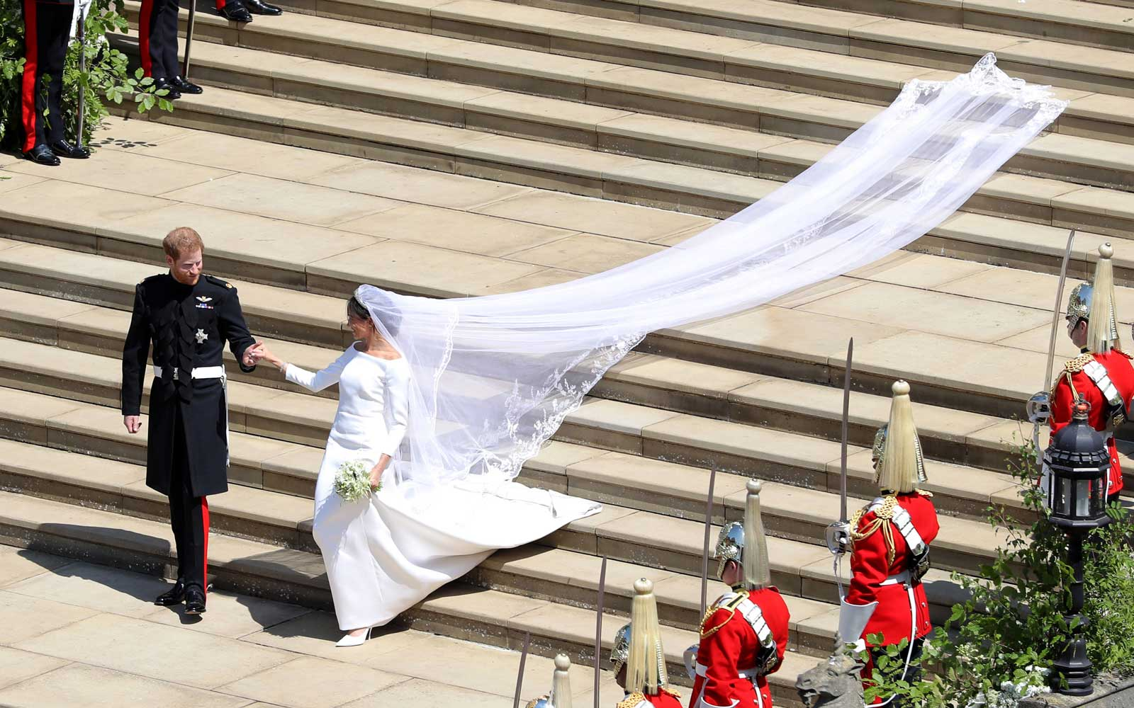 Meghan Markle's Stunning Givenchy Wedding Dress Is on Display in Scotland