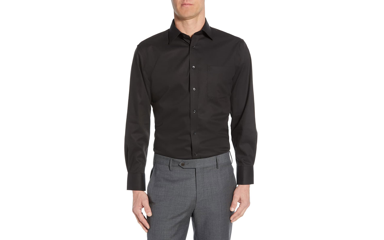 Nordstrom's Traditional Fit Non-Iron Dress Shirt
