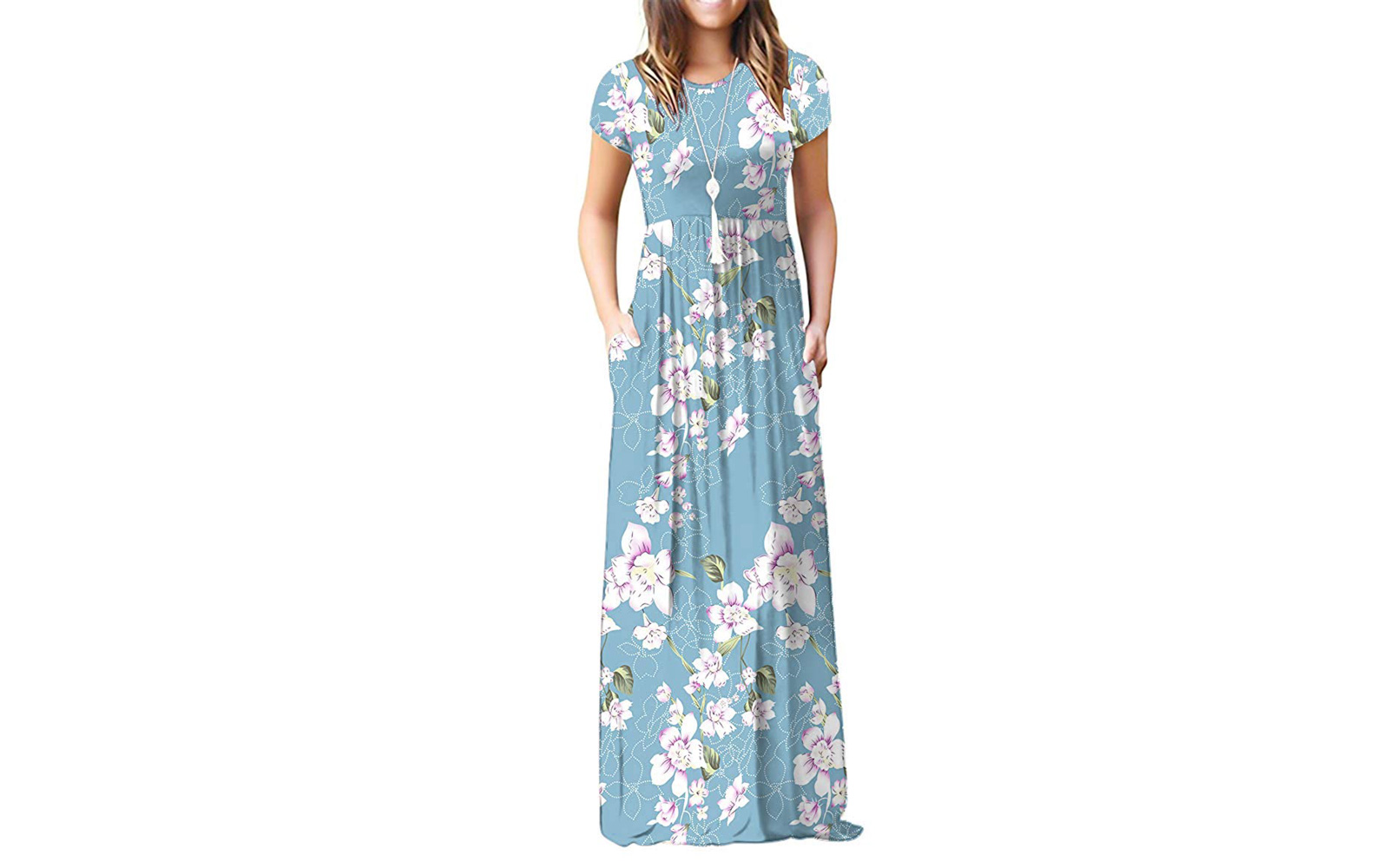 9867e02c0da85 Viishow Women's Short Sleeve Maxi Dress. Summer Maxi Dresses. Courtesy of  Amazon