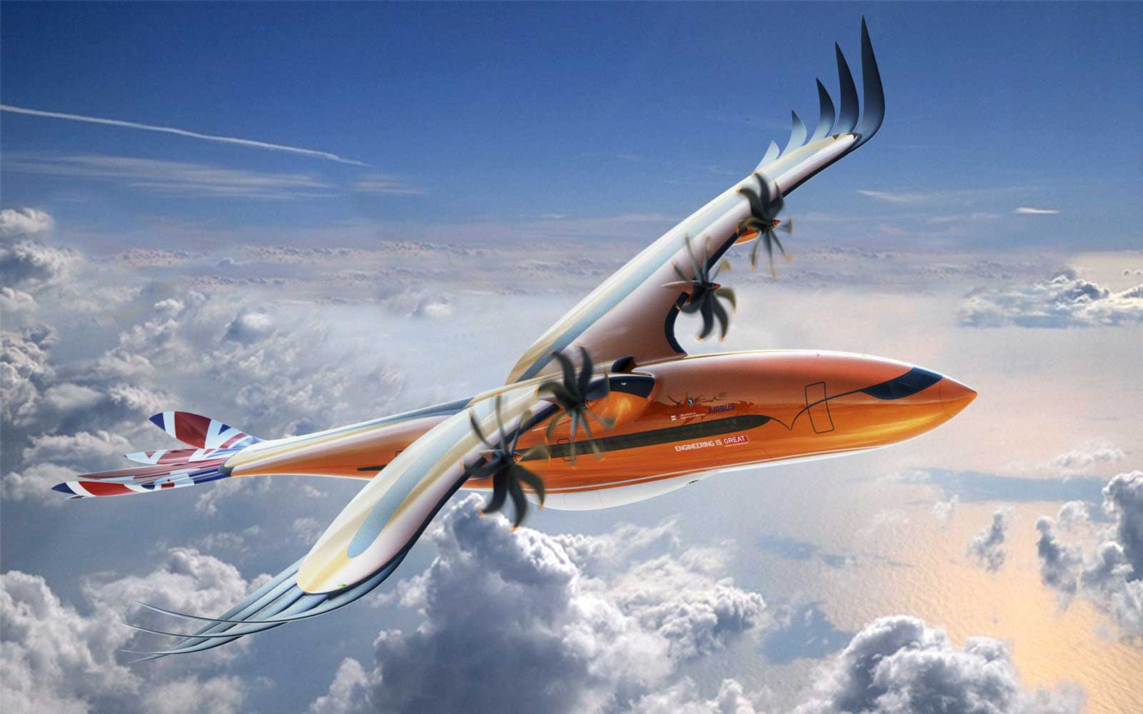 Airbus Unveils New Plane Concept Inspired by Birds of Prey