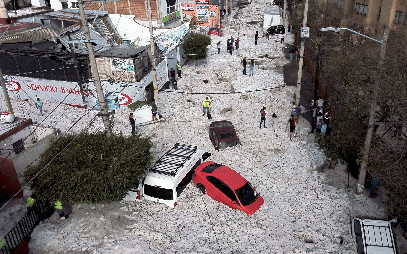 A Freak Summer Hailstorm Buried a Mexican City Under 3 Feet of Ice