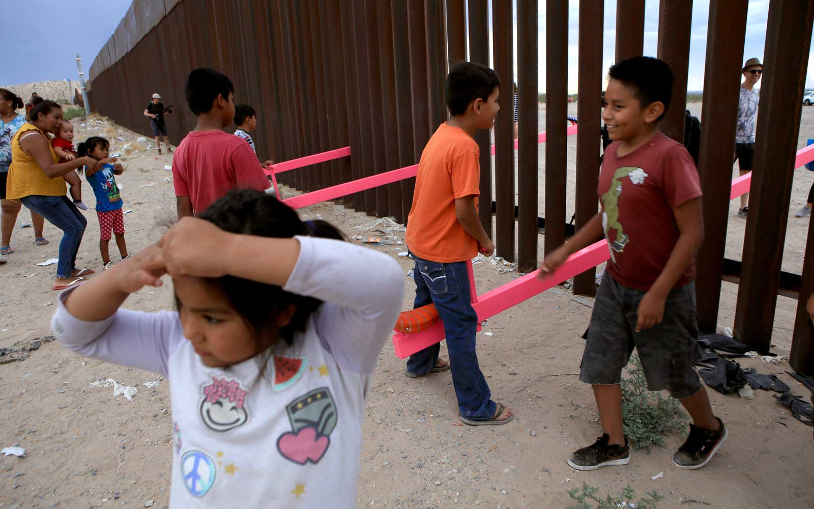 Artists Installed Massive Seesaws on the U.S.-Mexico Border so Kids Could Play Together
