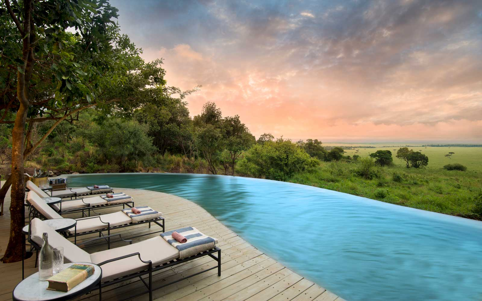 This Property Gives Travelers Front-row Seats to Africa's Wildebeest River Crossing