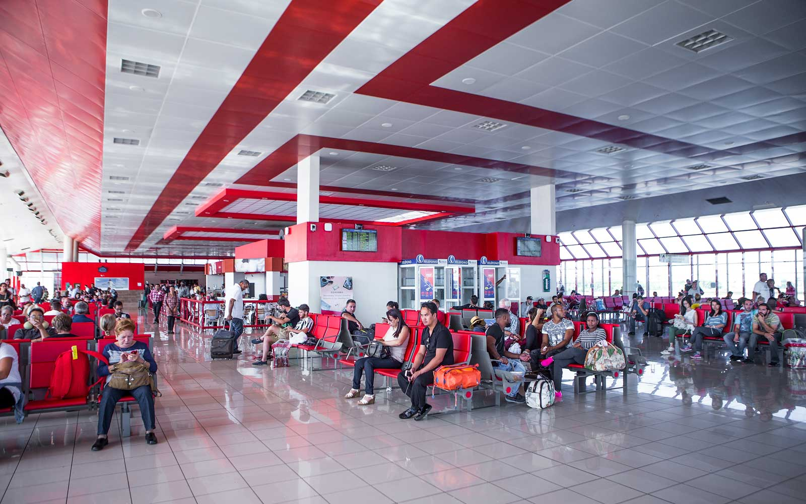 The Jose Marti International Airport in Havana, Cuba