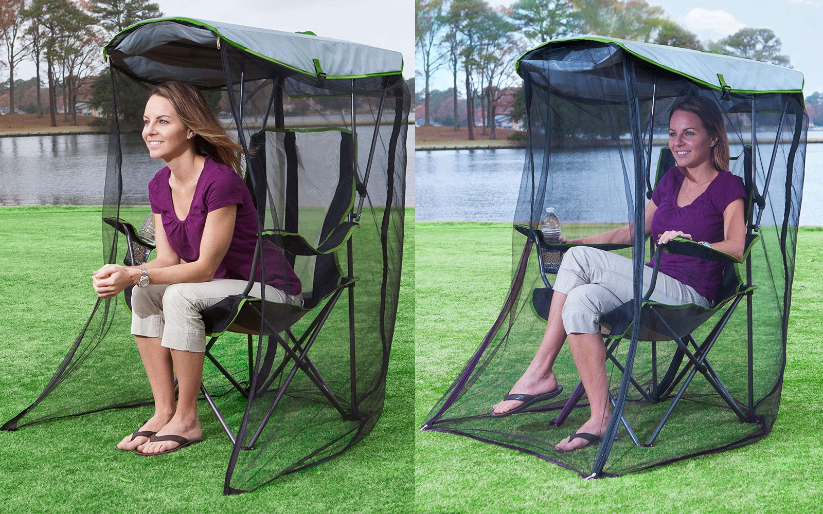 Hate Bug Bites? This Camping Chair With Its Own Personal Mosquito Net Is Here to Save Your Summer