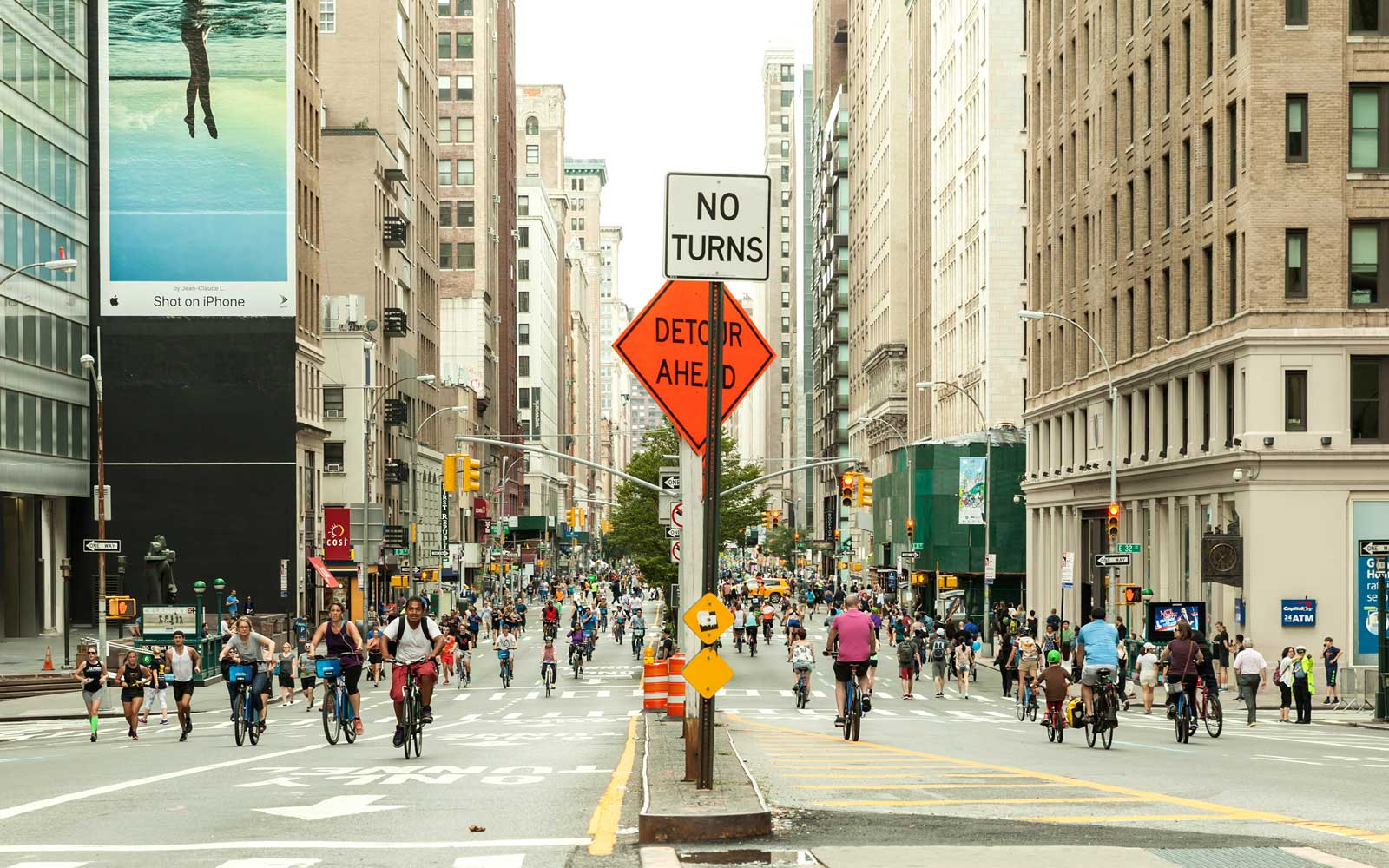 New York City Is Giving 7 Miles of Streets Back to Pedestrians and Cyclists in August