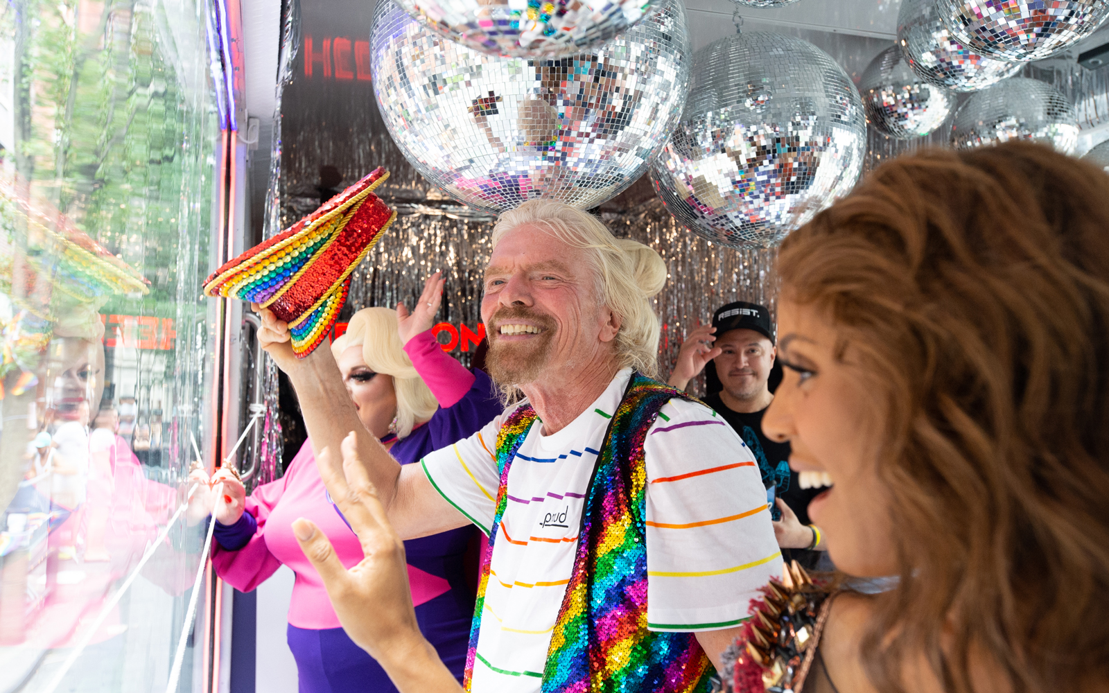 Richard Branson Celebrated Pride in NYC and Announced a New LGBTQ+ Sailing on Virgin Voyages (Video)