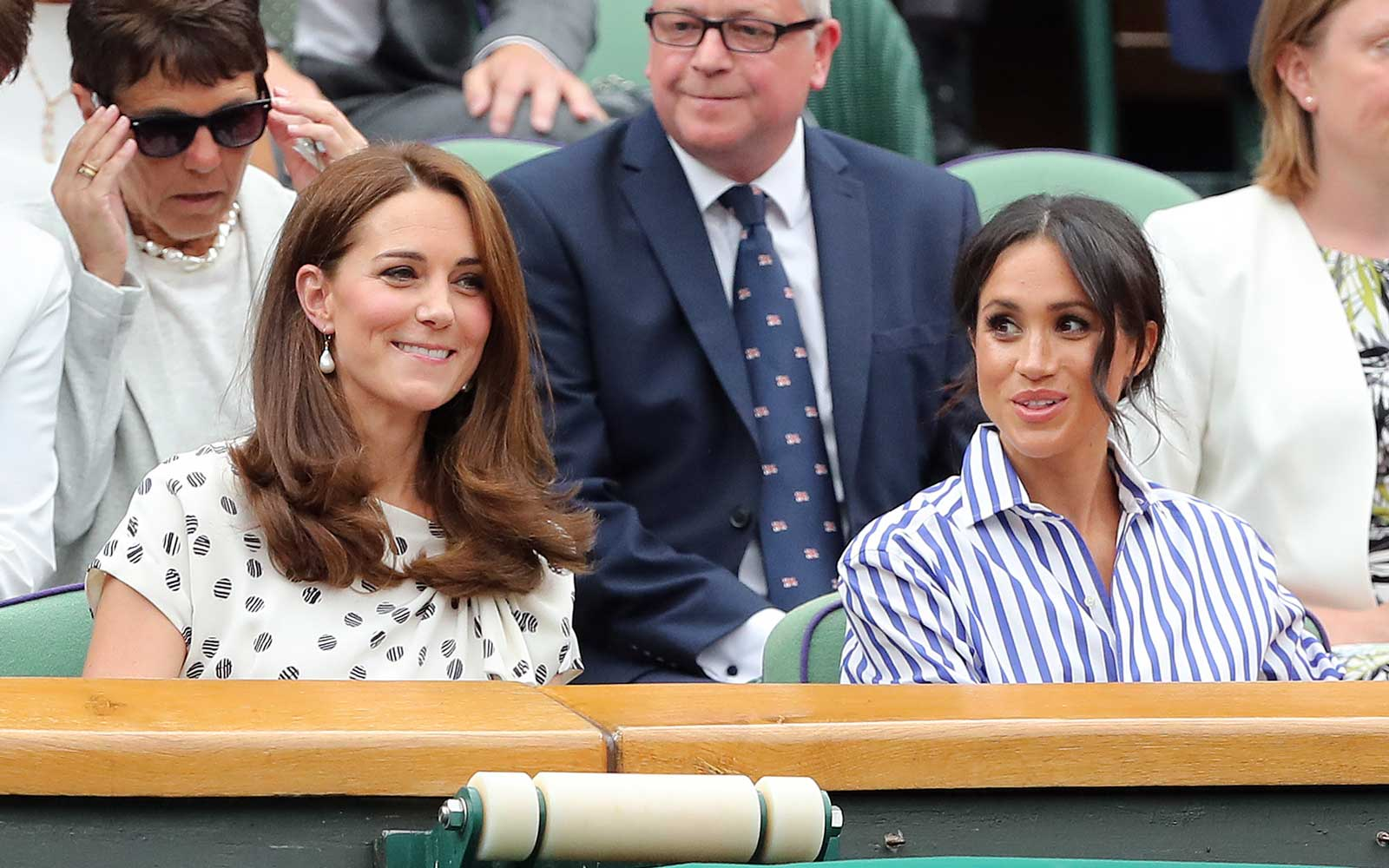 Catherine and Meghan at Wimbledon in 2018.