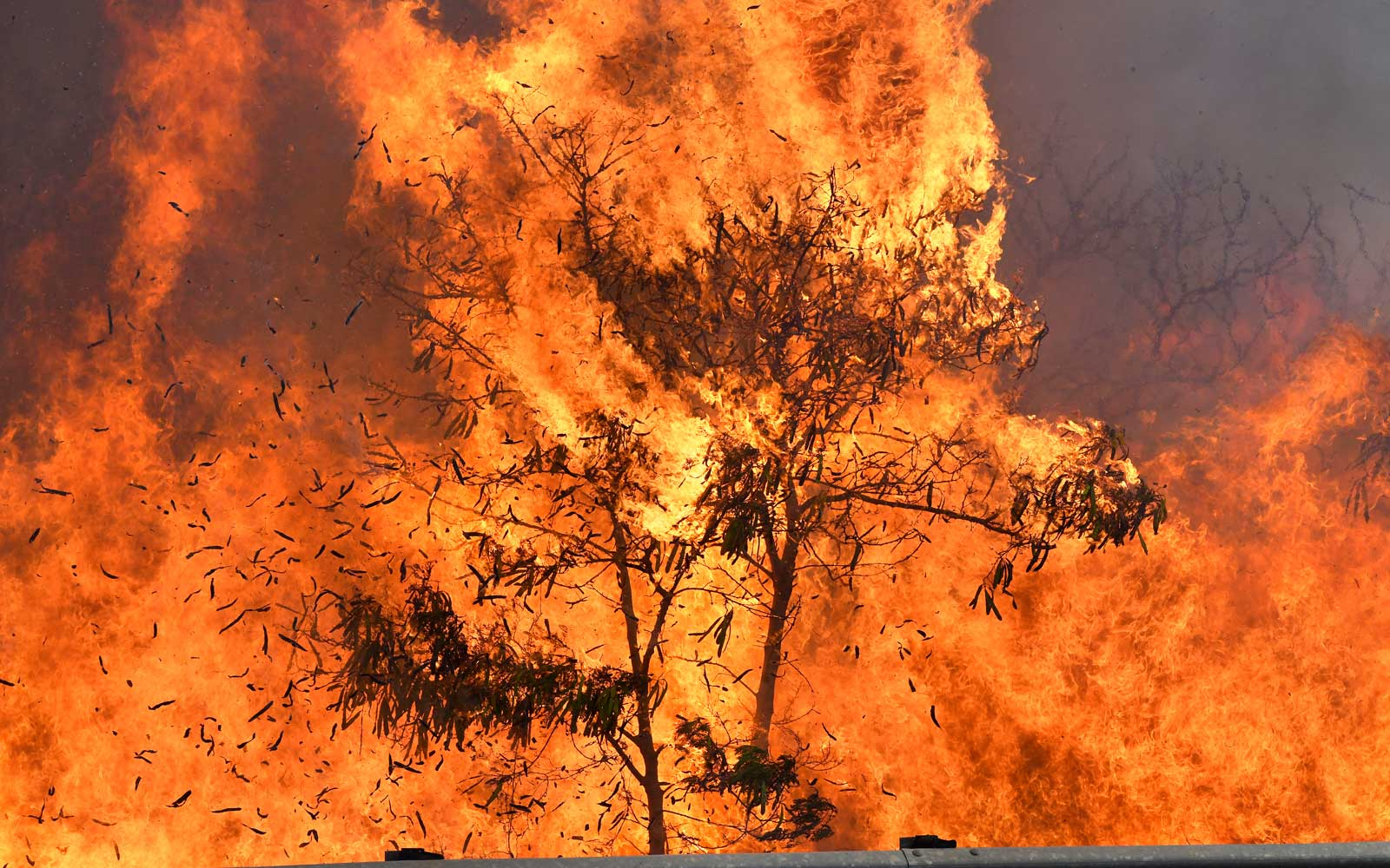 An out of control wildfire that began along a major Central Maui highway burns Thursday July 11, 2019, in Maui, Hawaii.