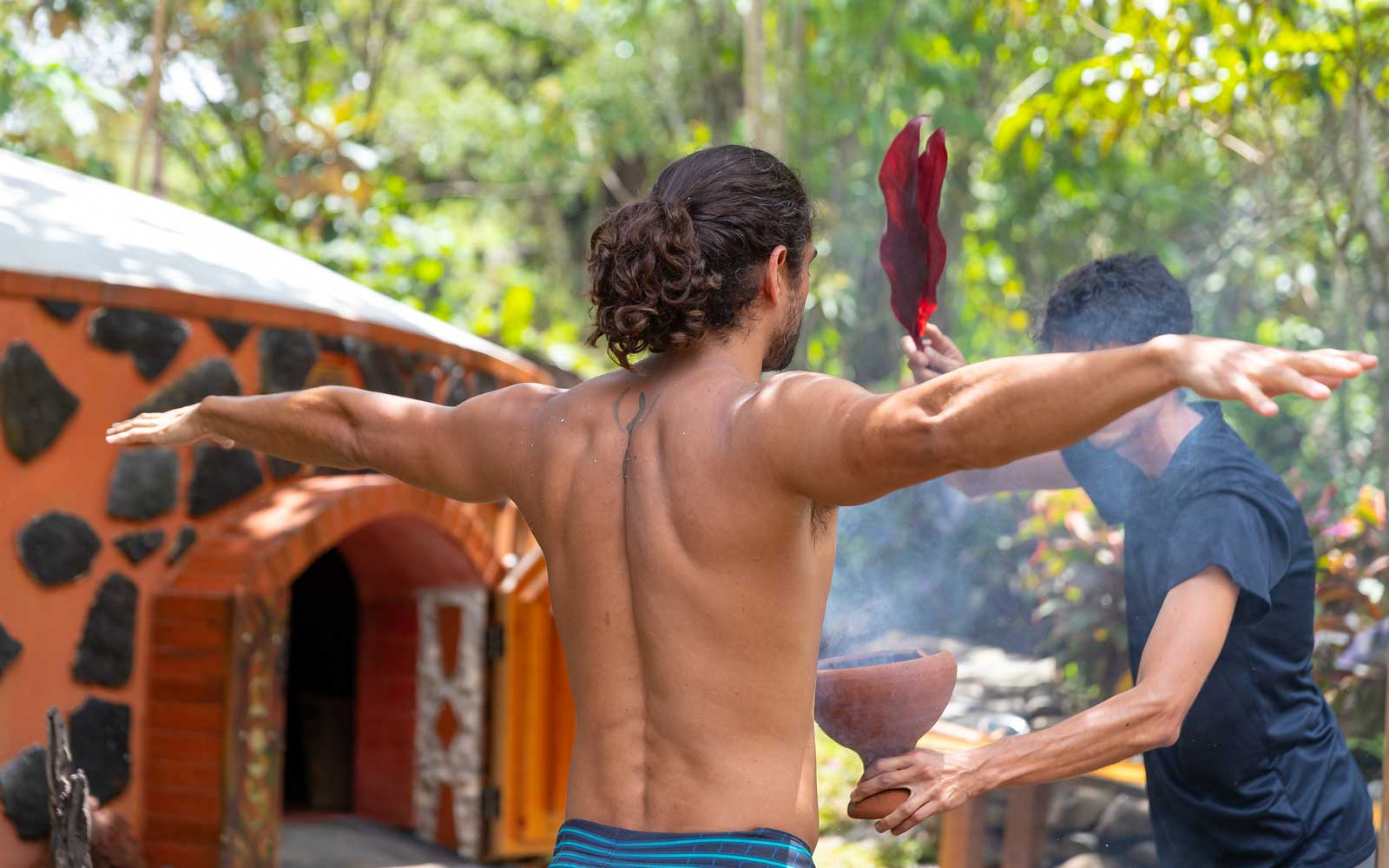 Sweat ceremony at Kinkára, Costa Rica